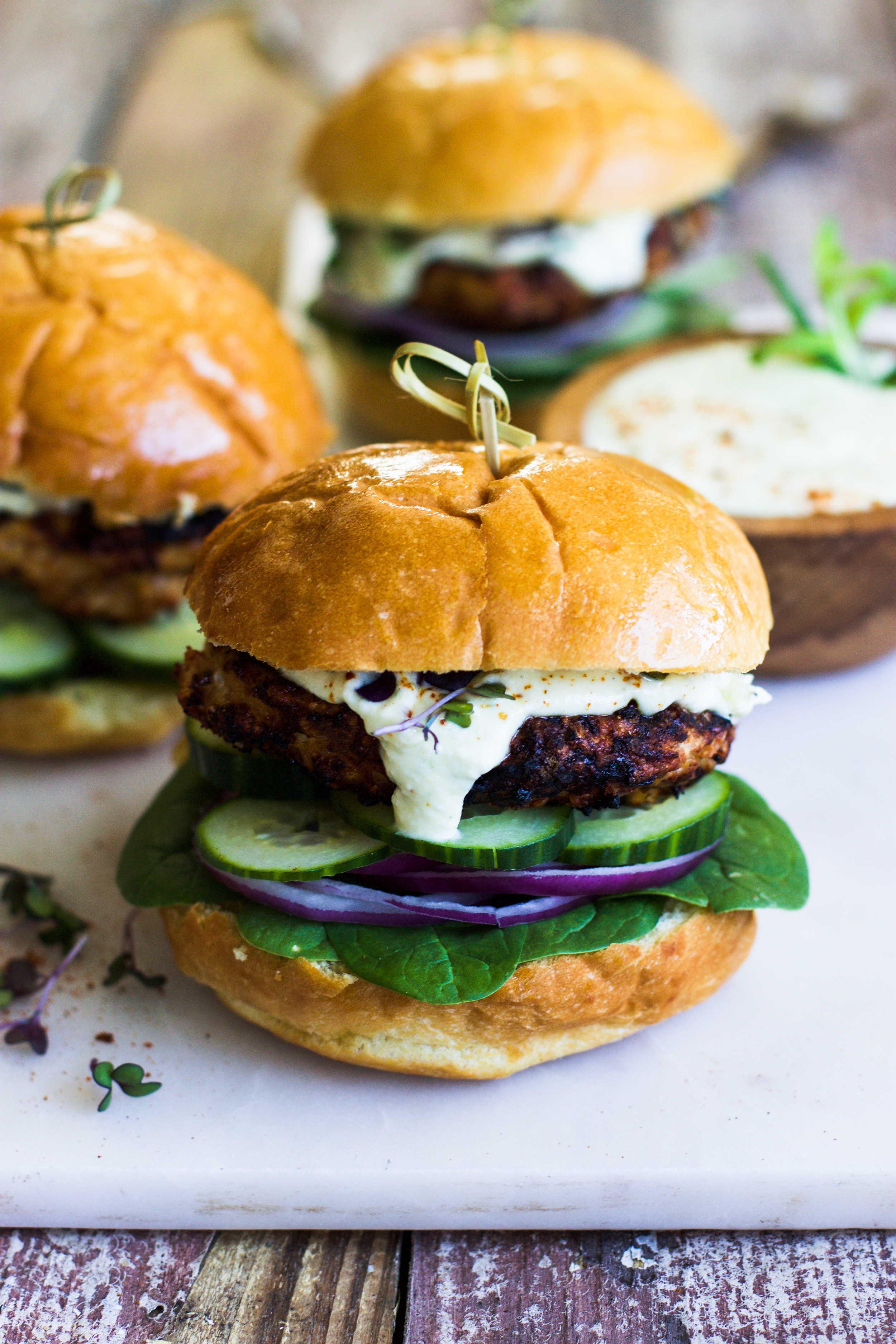 Chicken Harissa Burgers: My Diary of Us