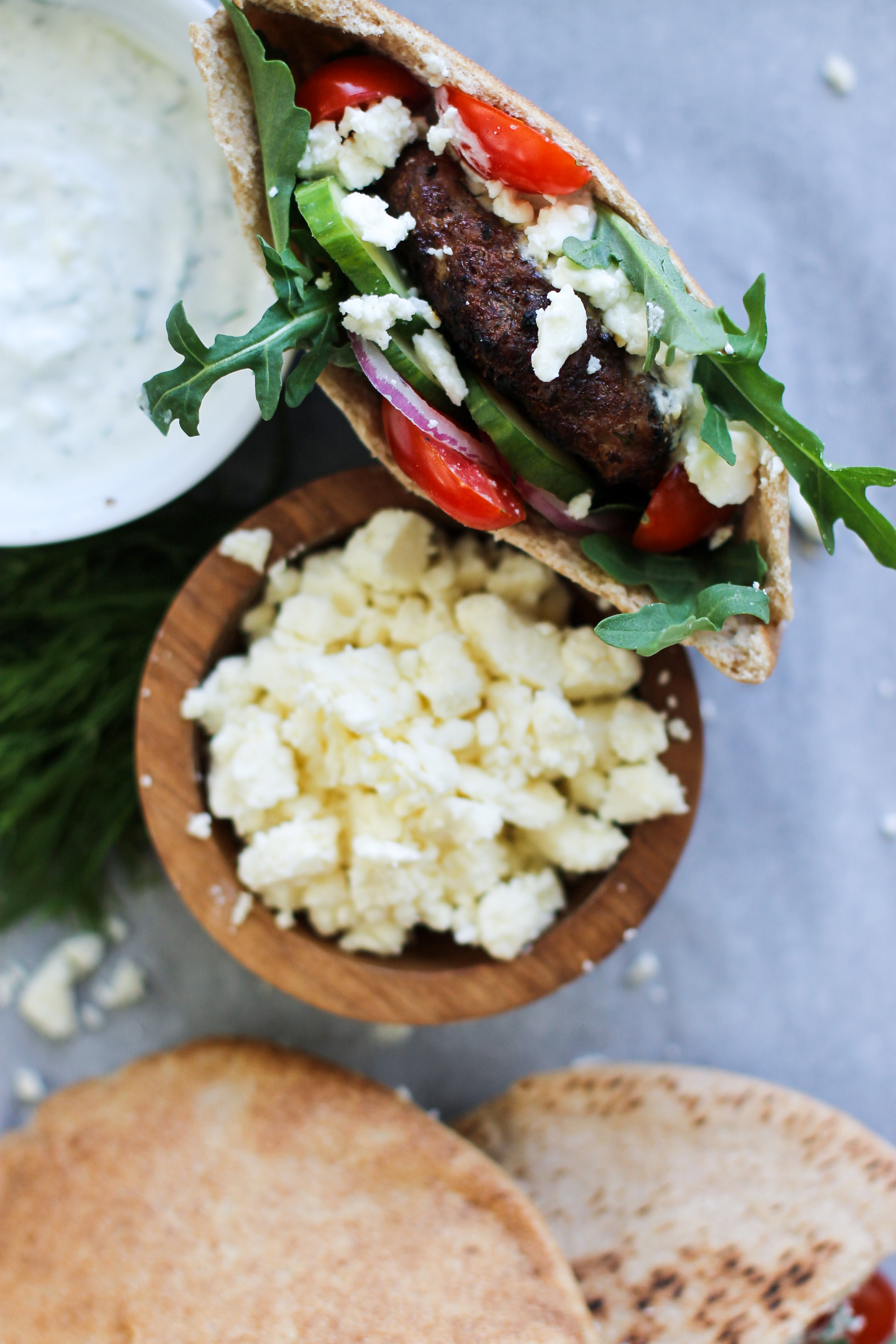 Grilled Lamb Burgers with Homemade Tzatziki: My Diary of Us