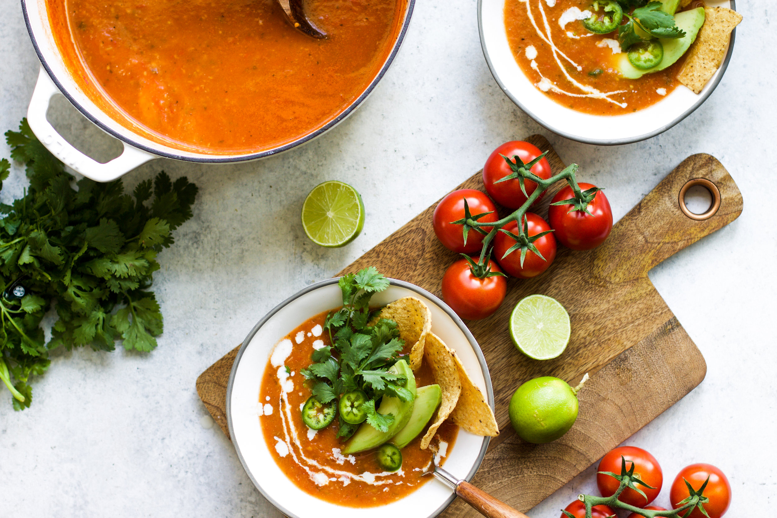 Mexican Style Tomato Soup: My Diary of Us