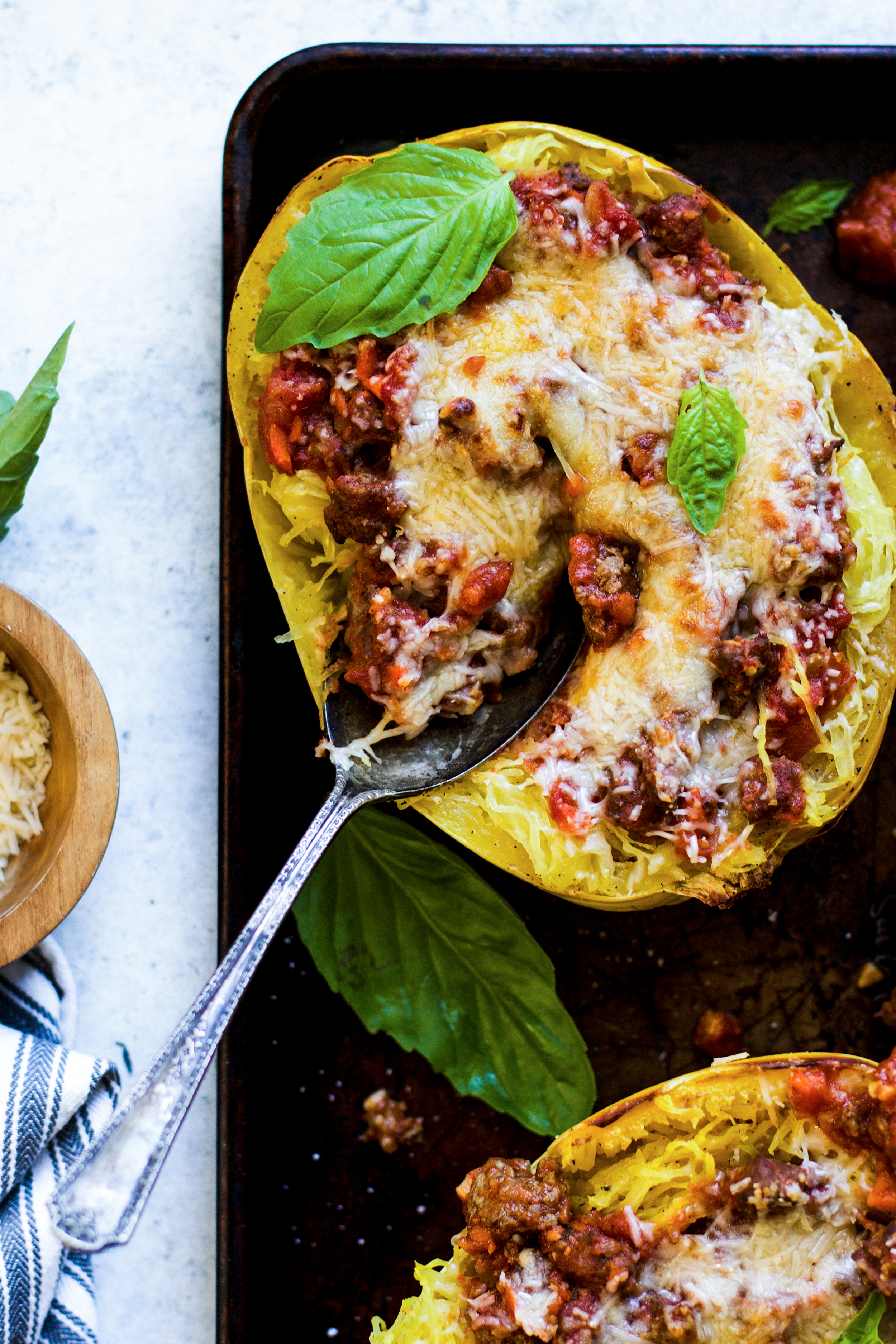 Baked Bolognese Spaghetti Squash: My Diary of Us