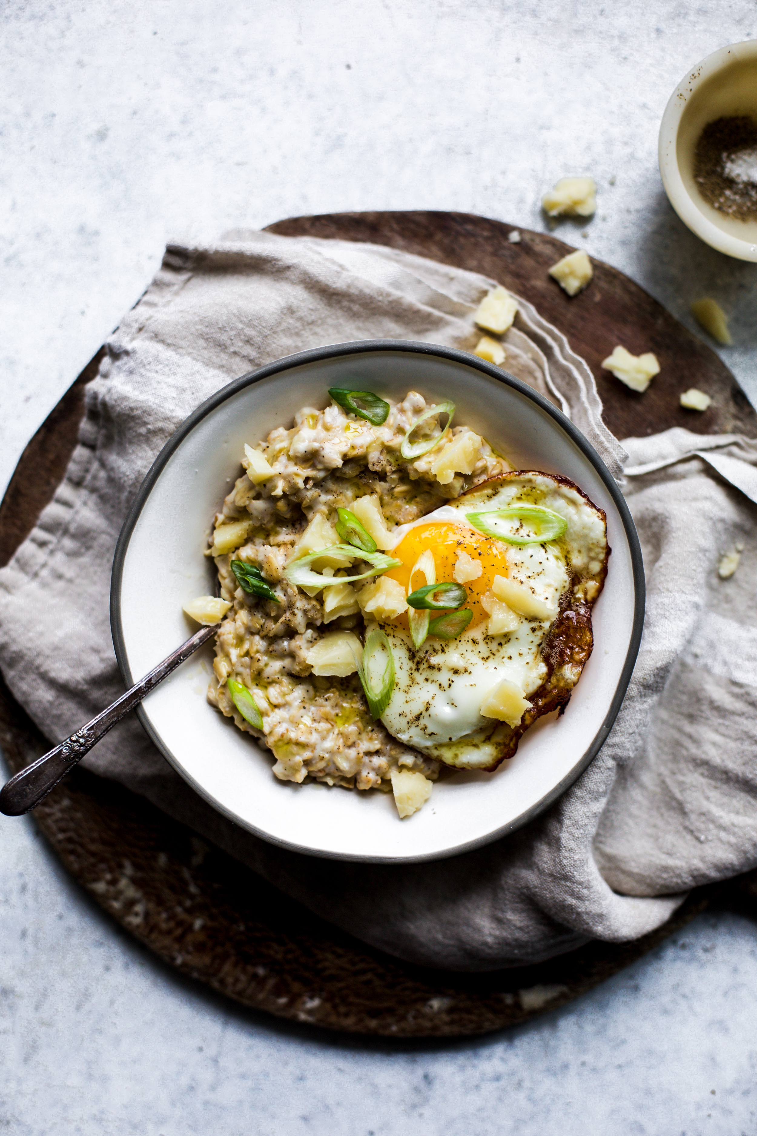 Savory Oats with Parmesan and Olive Oil: My Diary of Us
