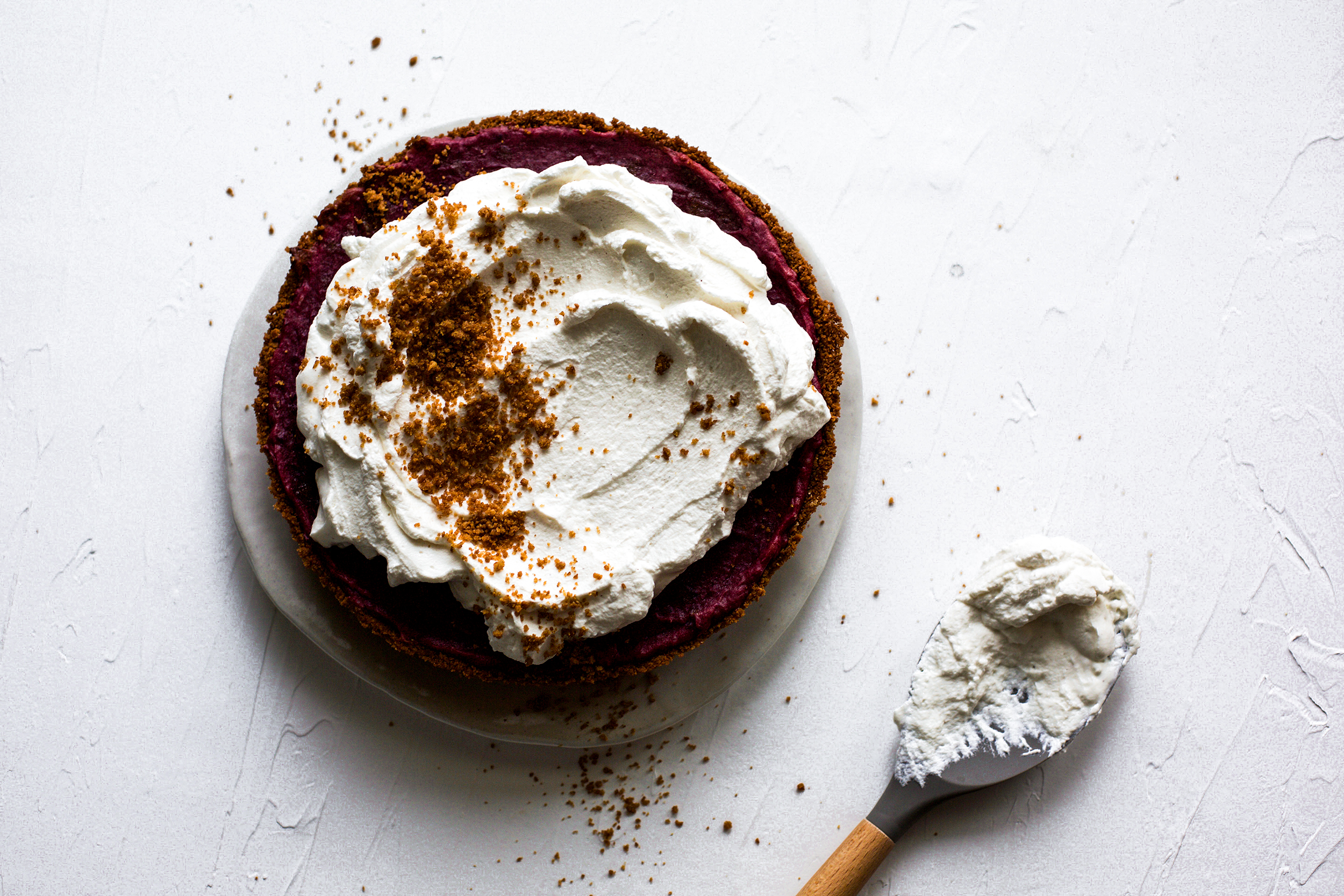 Spiced Purple Sweet Potato Pie with a Ginger Graham Crust: My Diary of Us