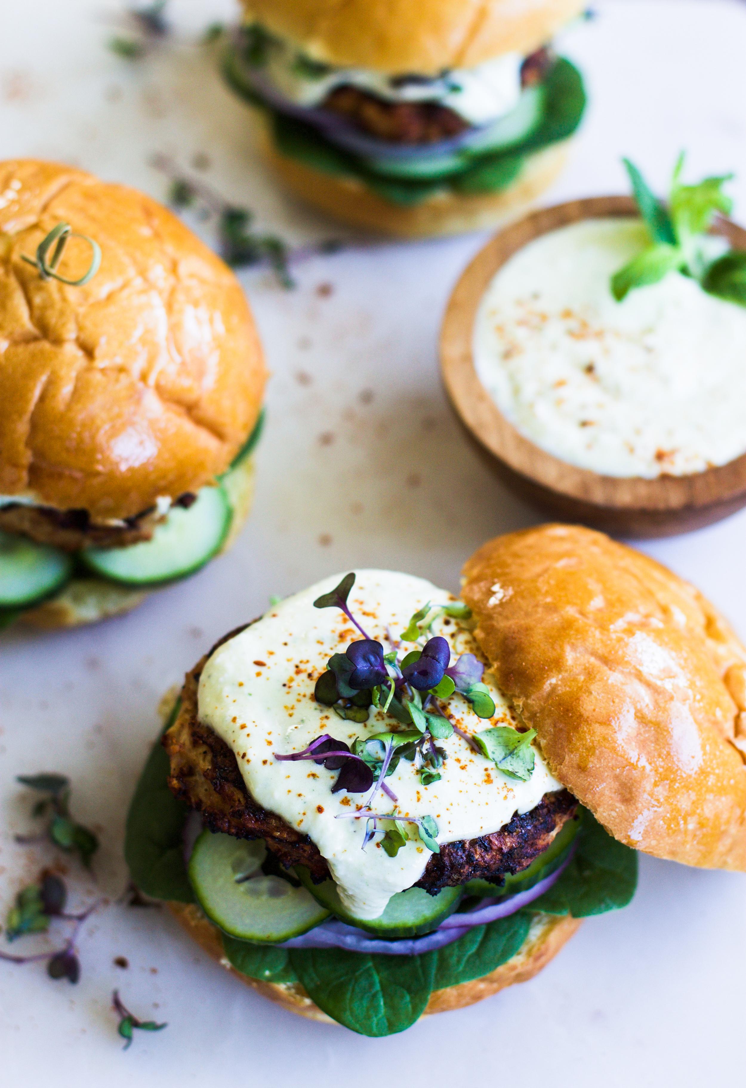 Harissa Chicken Burgers: My Diary of Us
