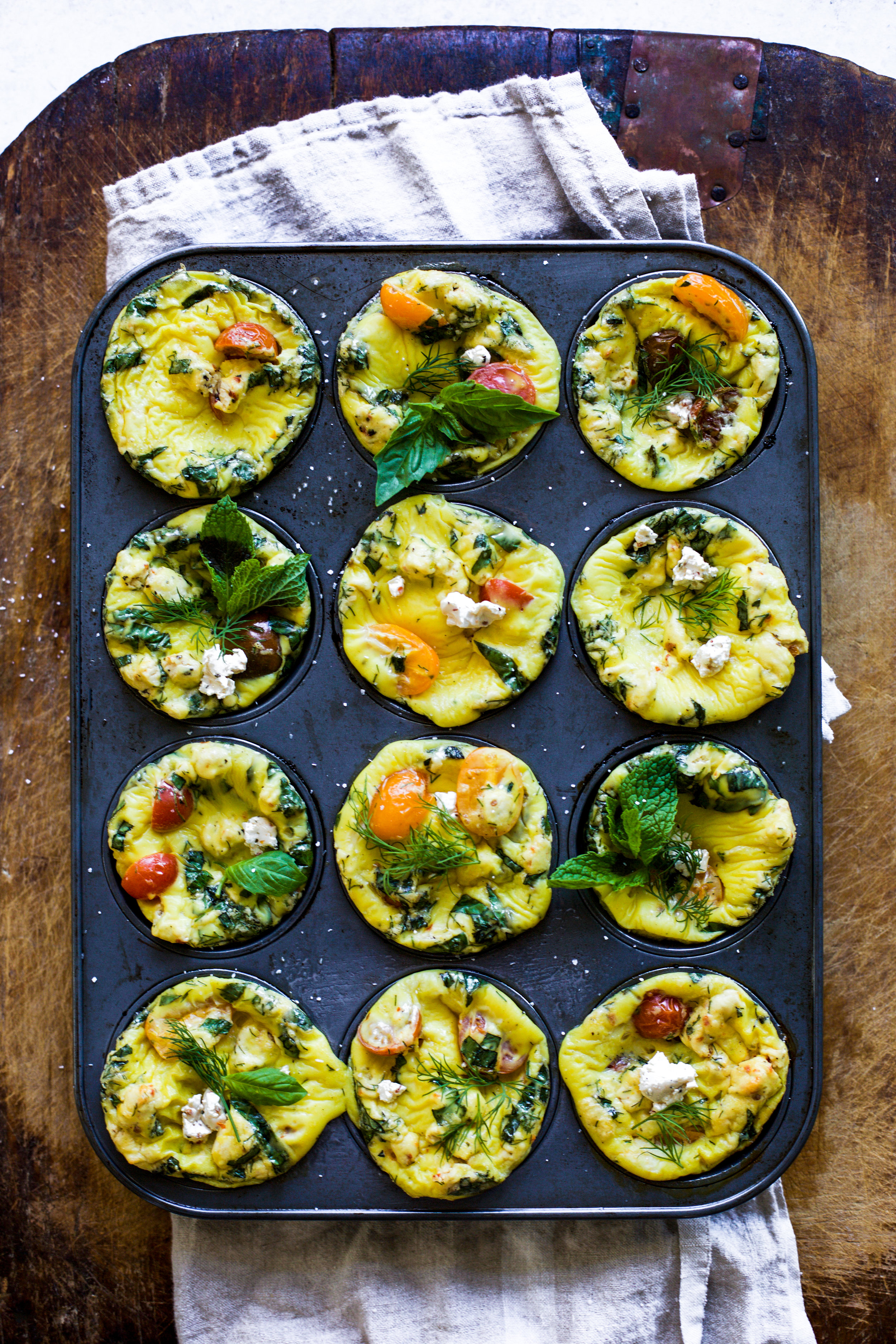 Herby Tomato and Goat Cheese Egg Muffins: My Diary of Us
