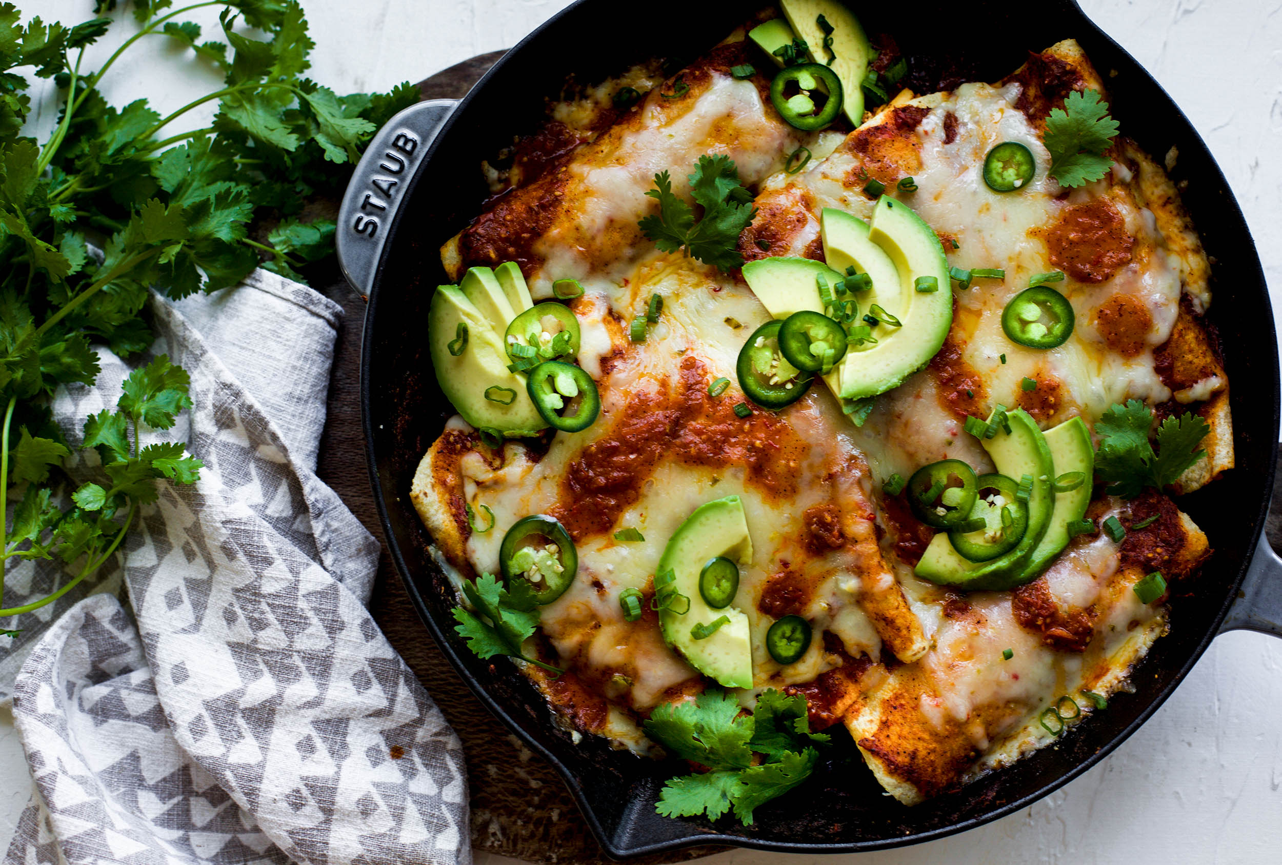 Chipotle Chicken Skillet Enchiladas
