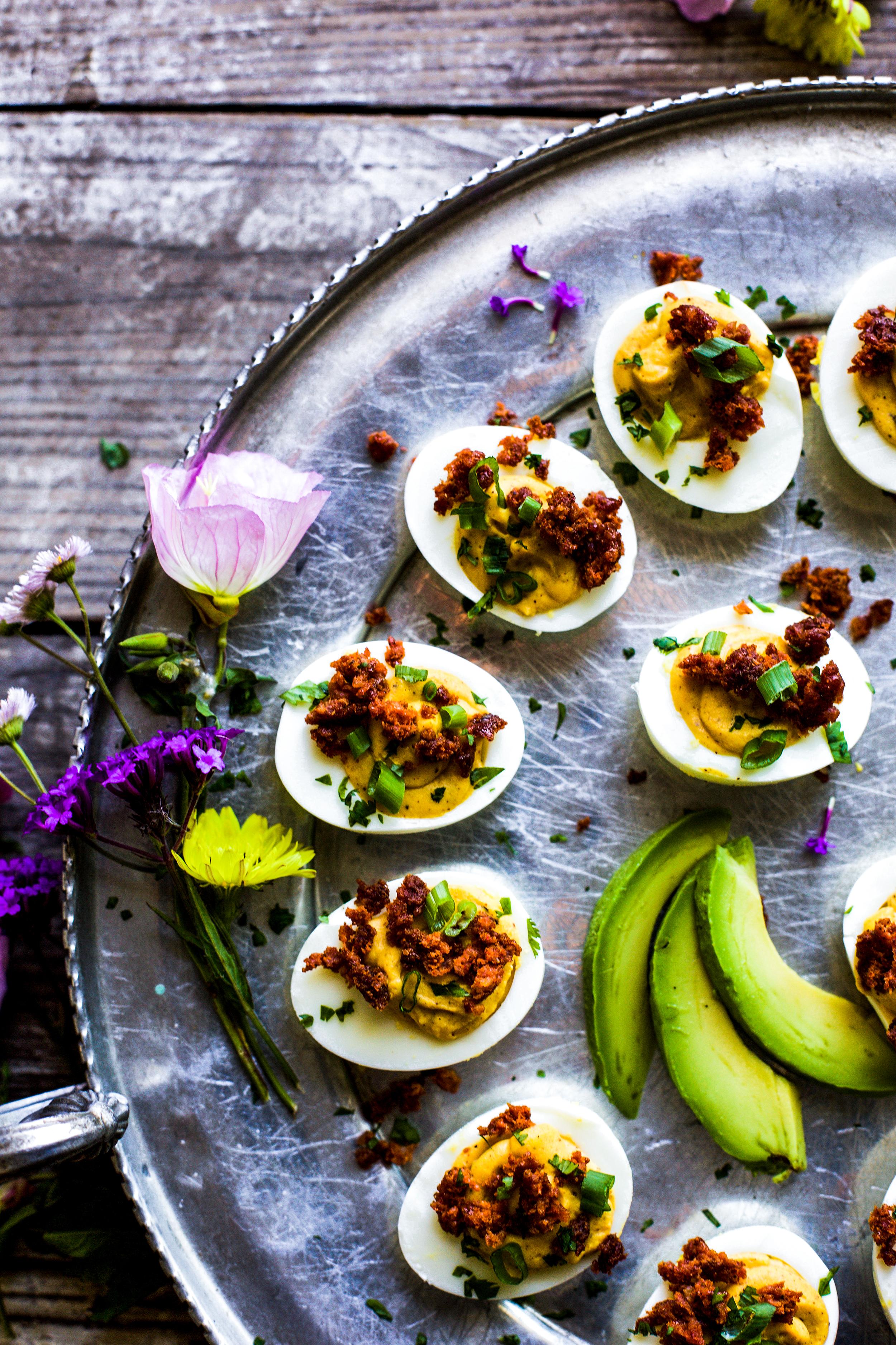 Easy Chorizo Deviled Eggs
