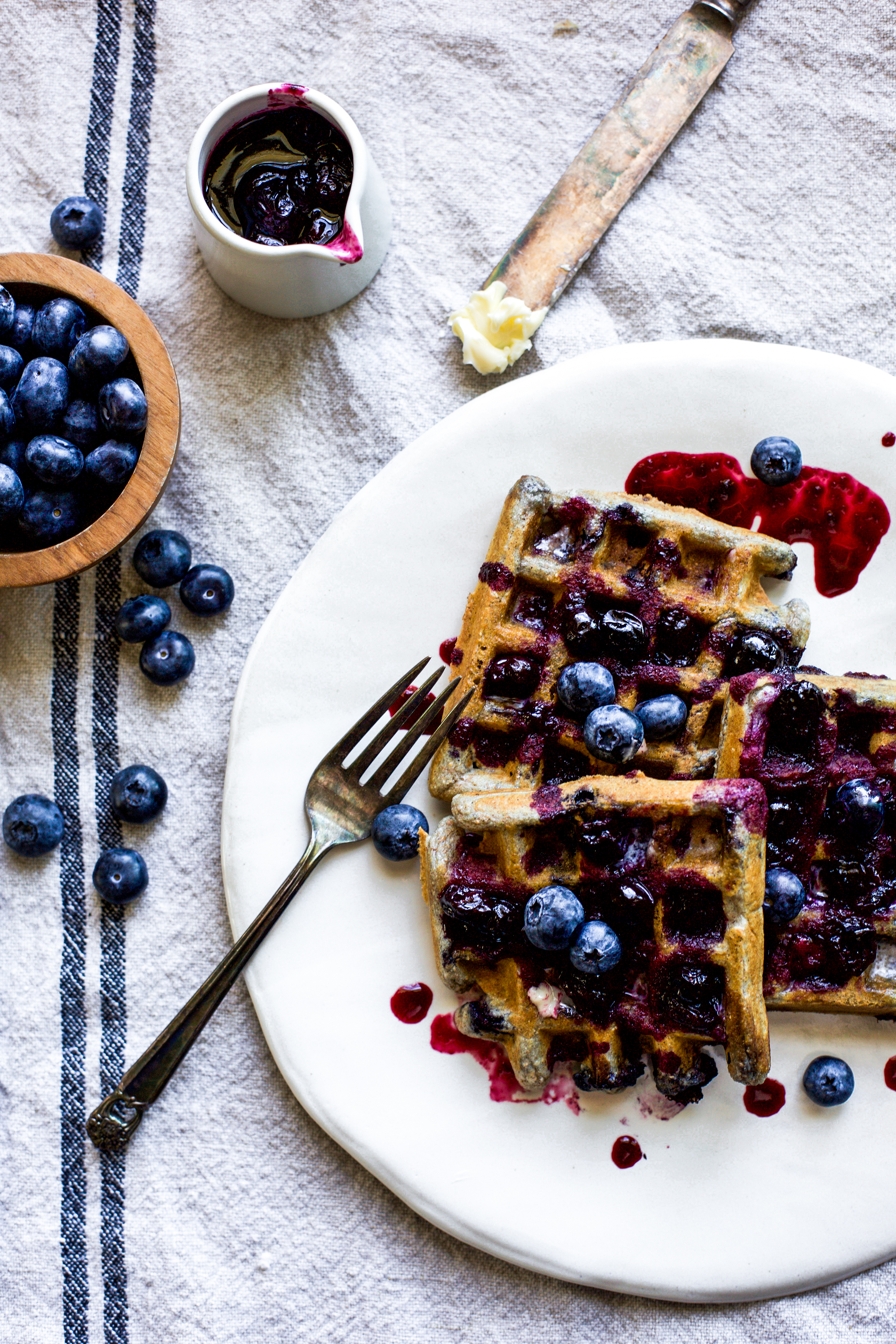 Double Blueberry Waffles