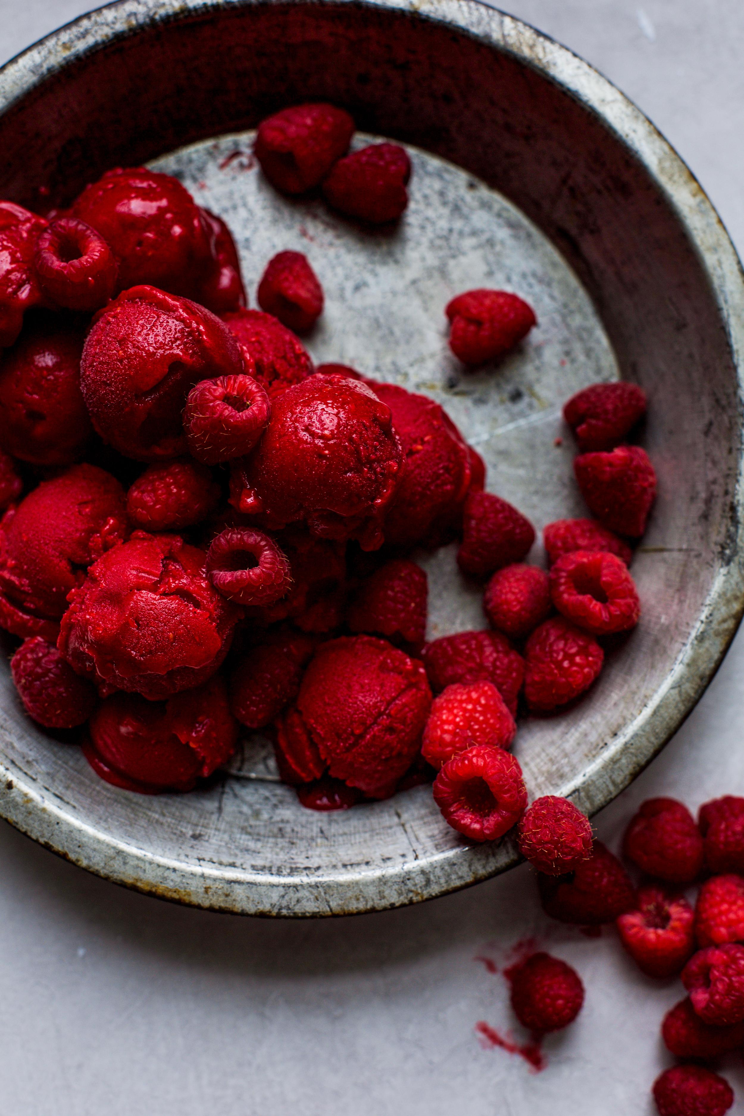 Easy 3-Ingredient Raspberry Sorbet