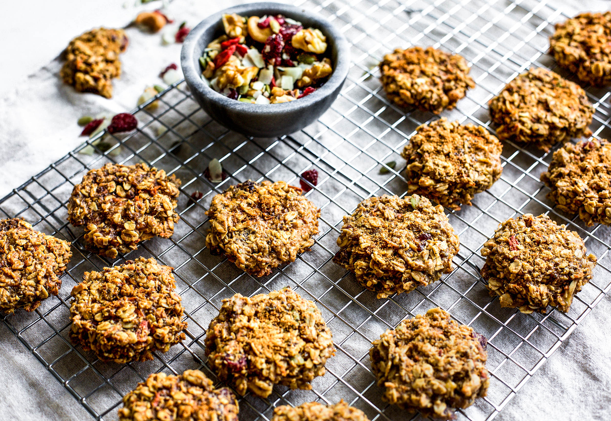 Trail Mix Breakfast Cookies