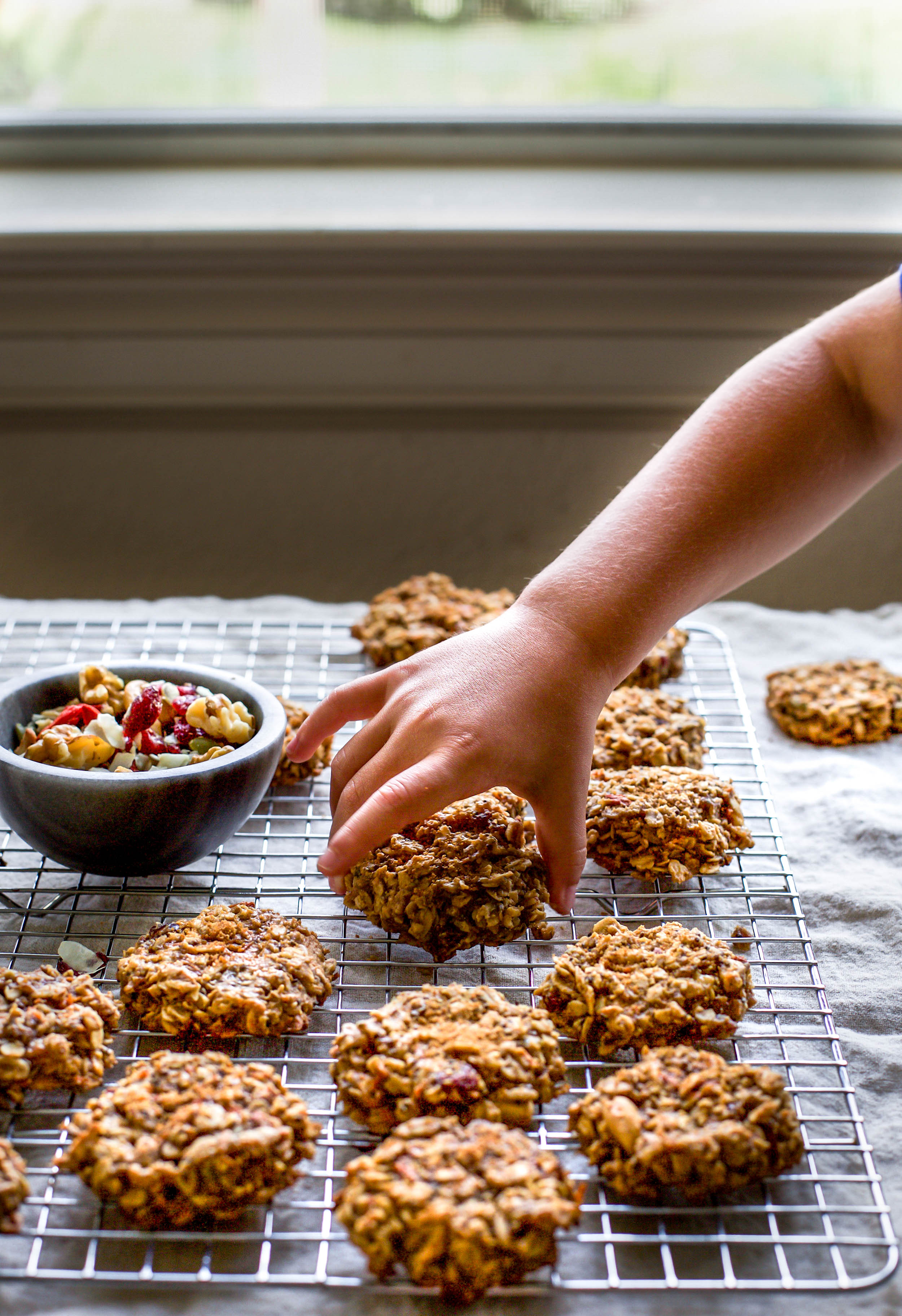 Peanut Butter Trail Mix Breakfast Cookies