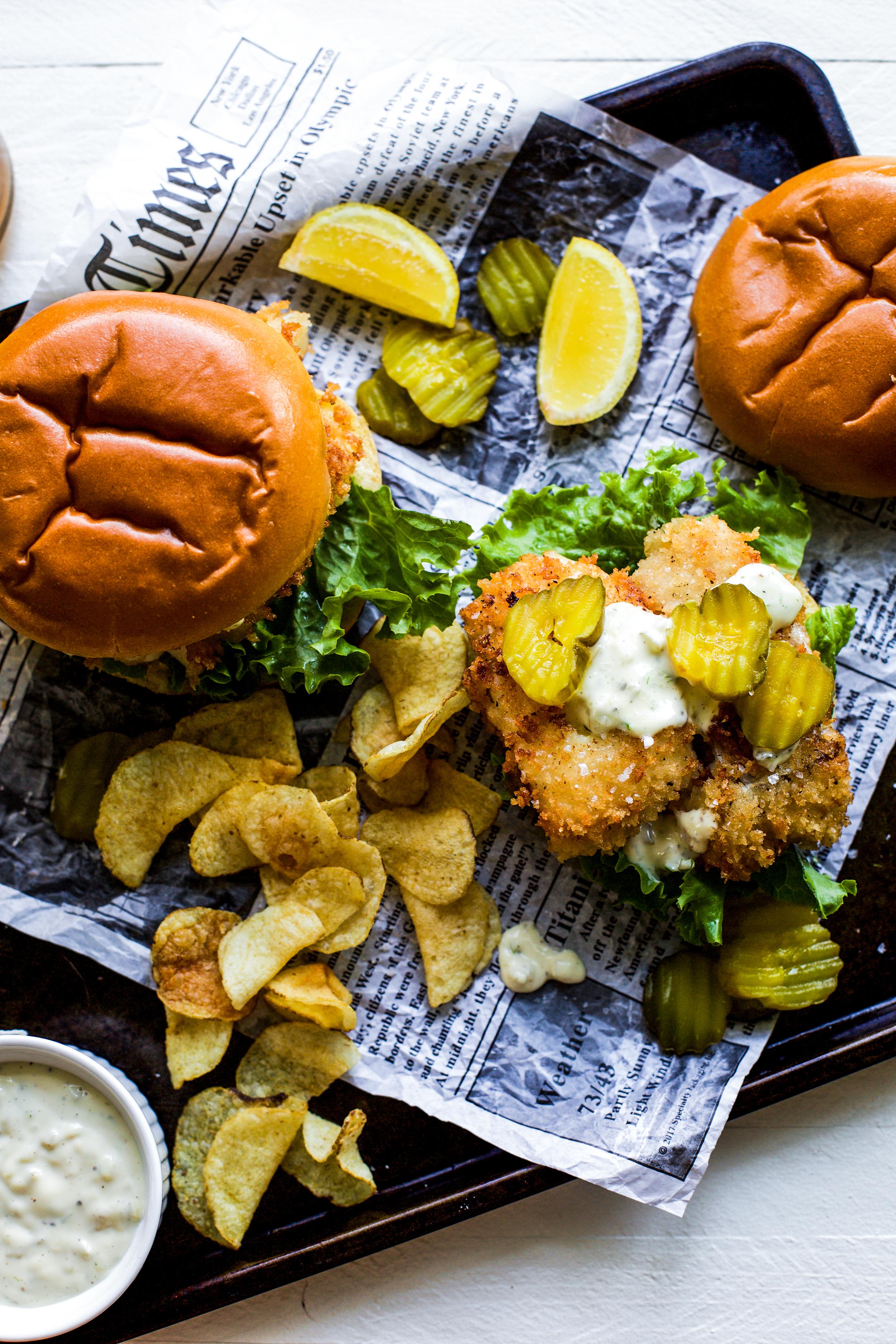New England Style Haddock Sandwiches