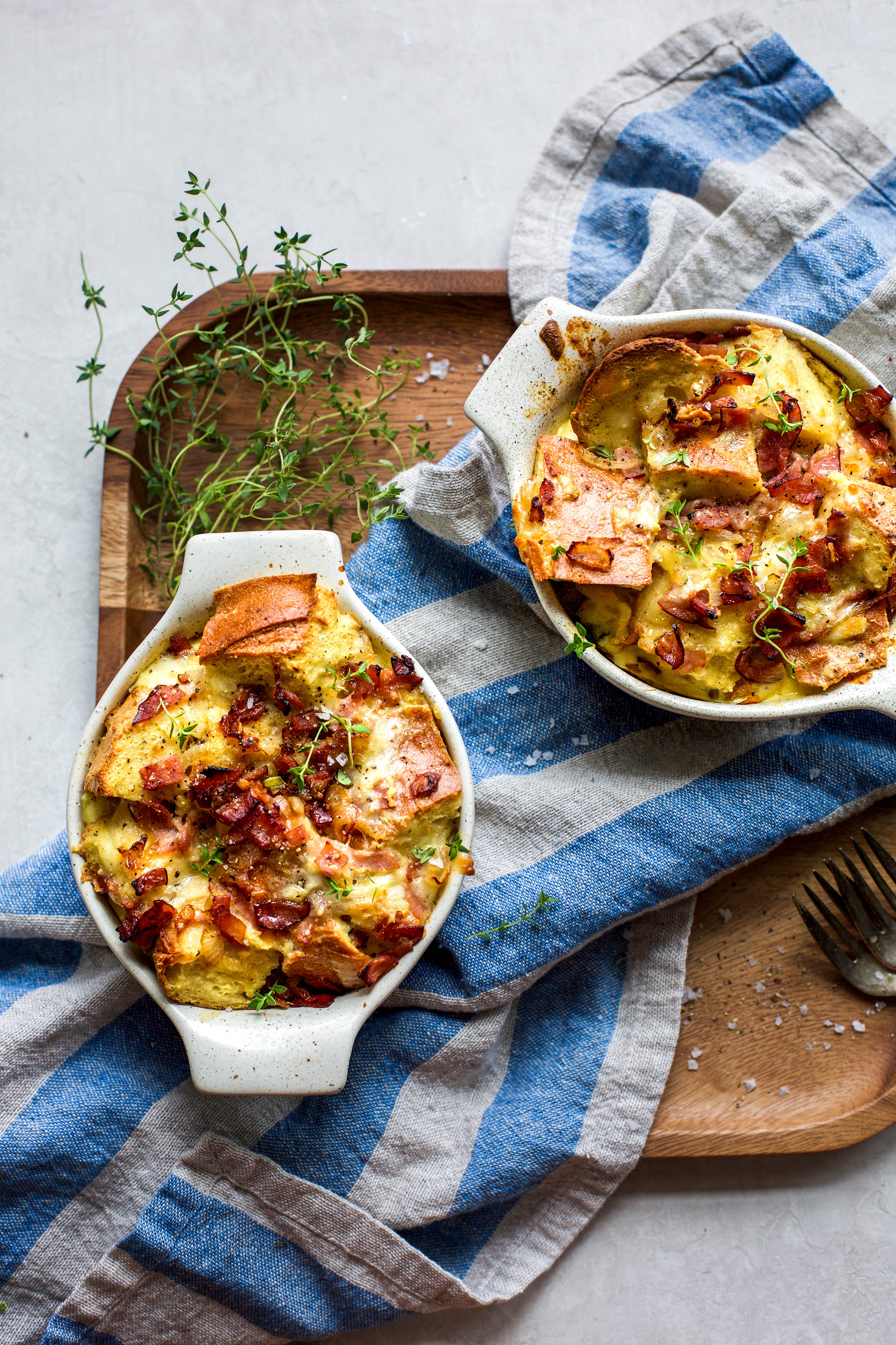 Savory Ham and Cheese Breakfast Bake for Two