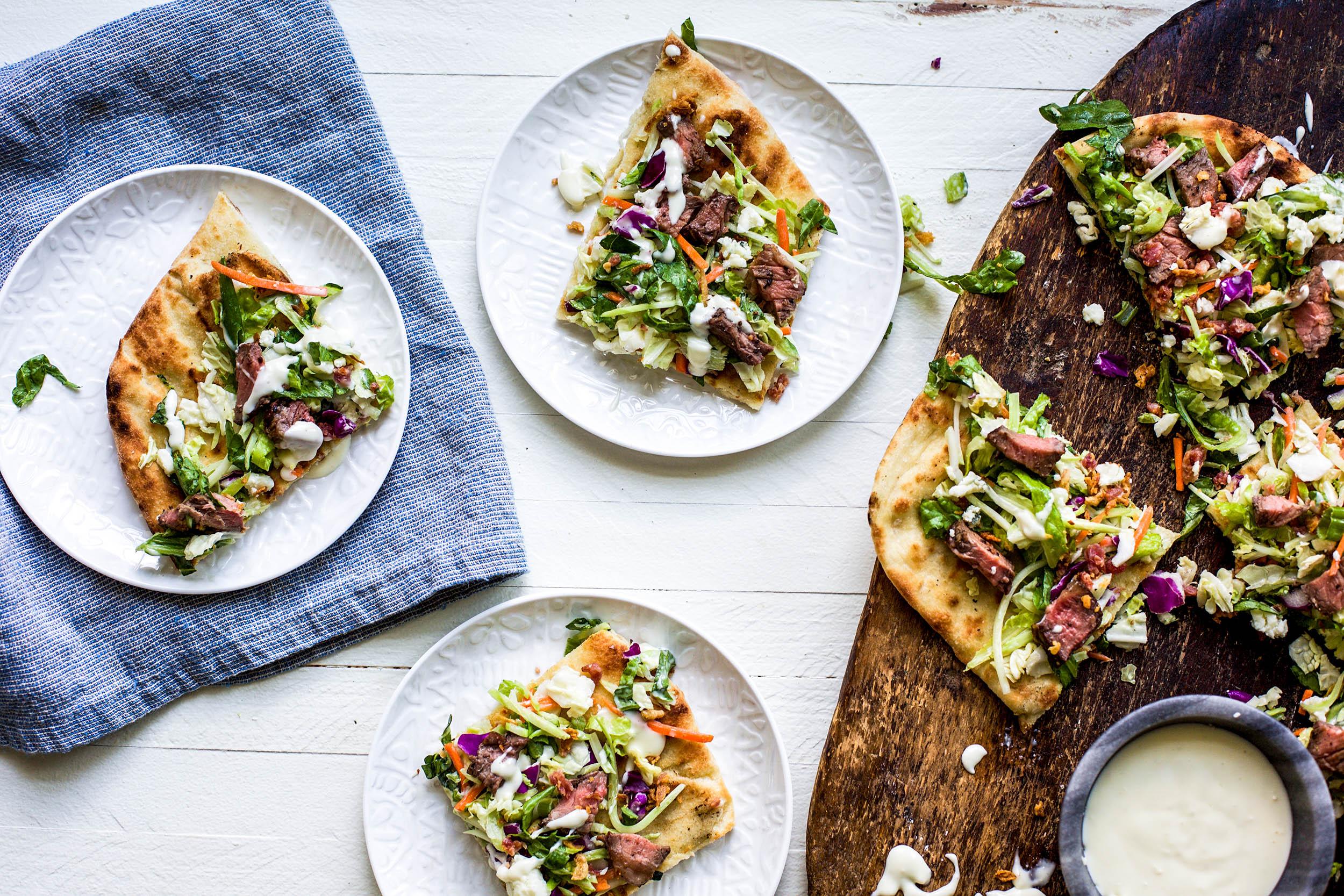 Grilled Steakhouse Salad Flatbread