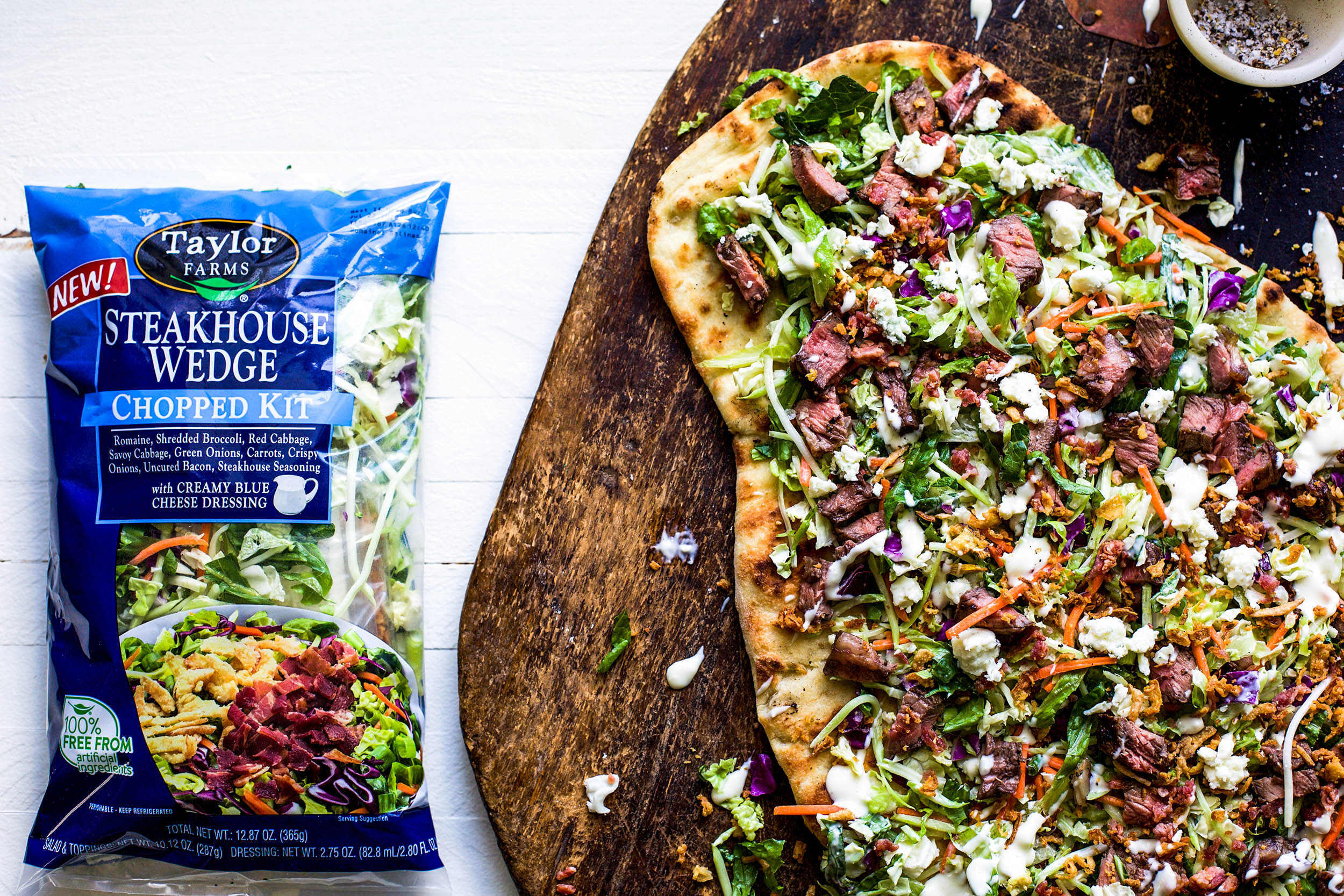 Taylor Farms Steakhouse Wedge Chopped Salad Flatbread