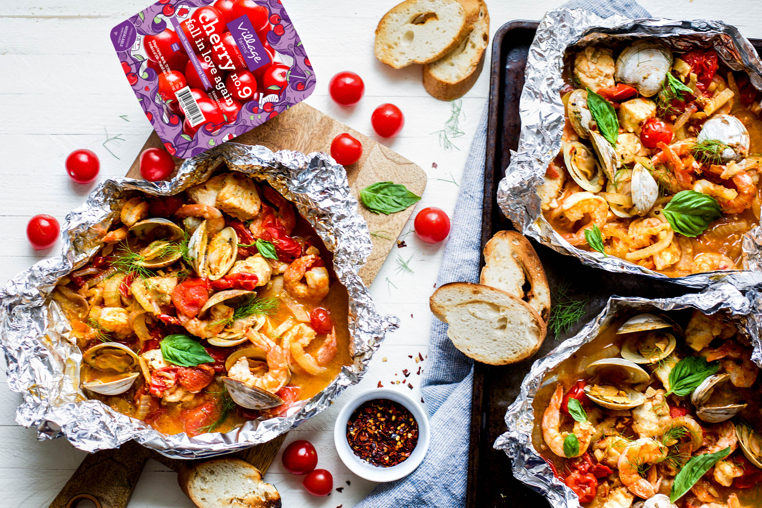 Grilled Cioppino Foil Packets