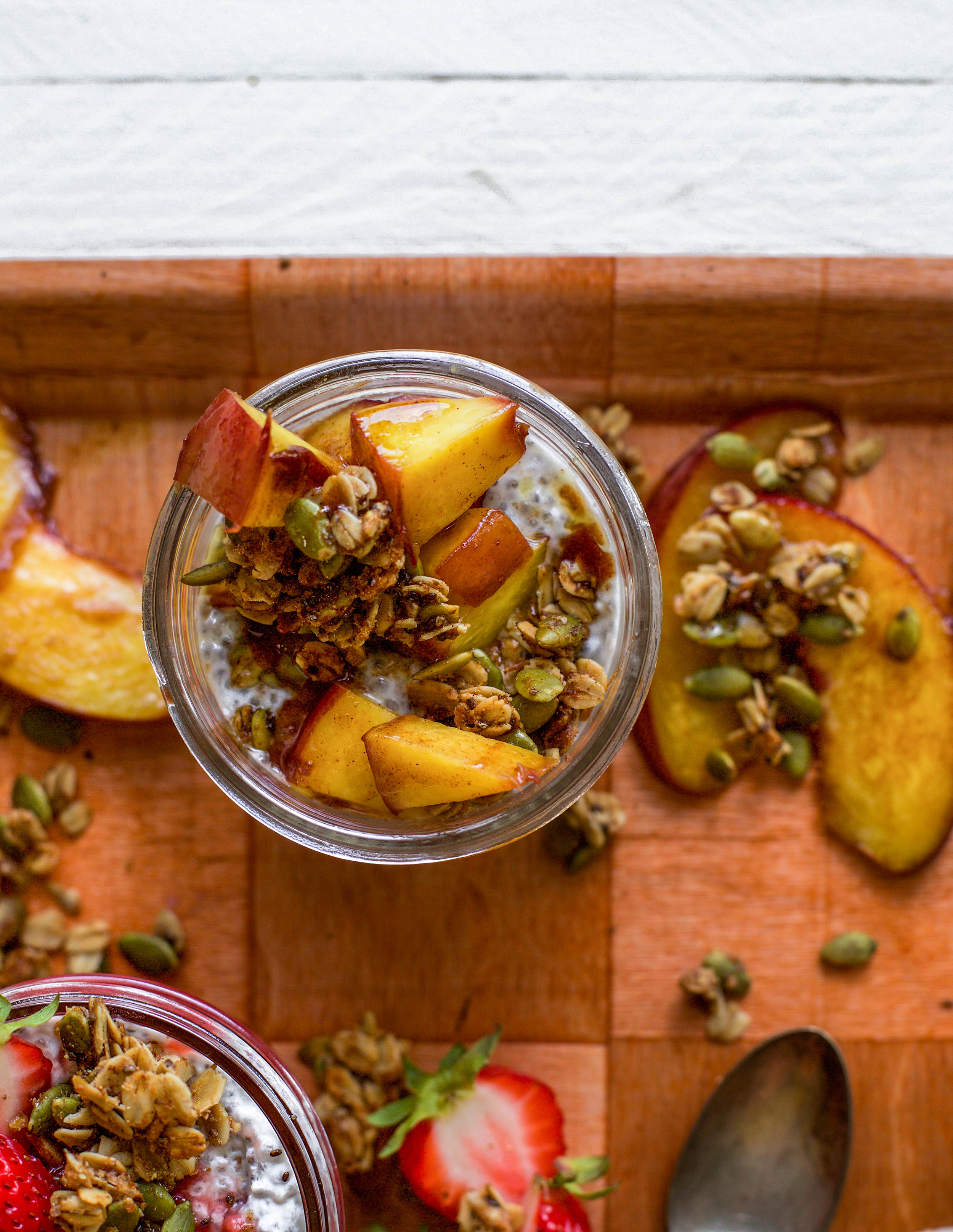 Brown Sugar and Peach Chia Pudding