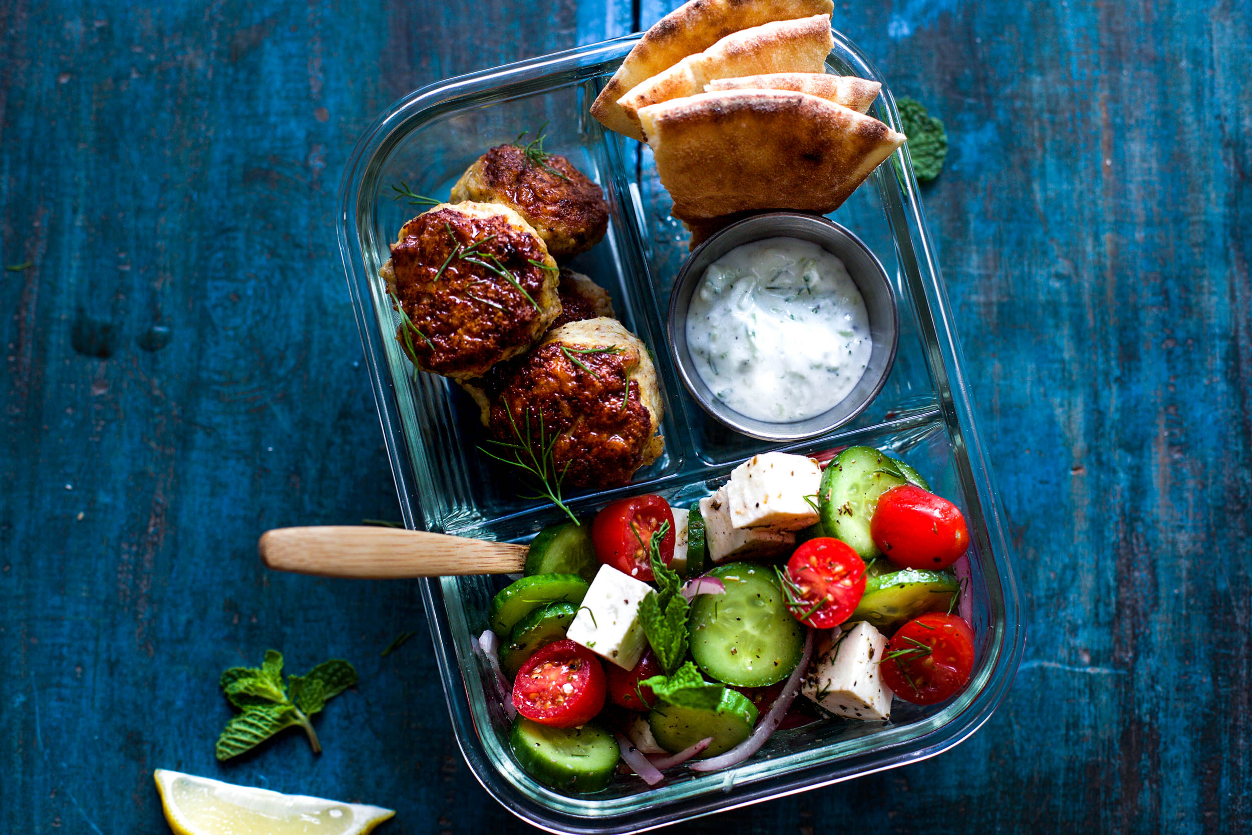 Chicken Shawarma Meatball Meal Prep