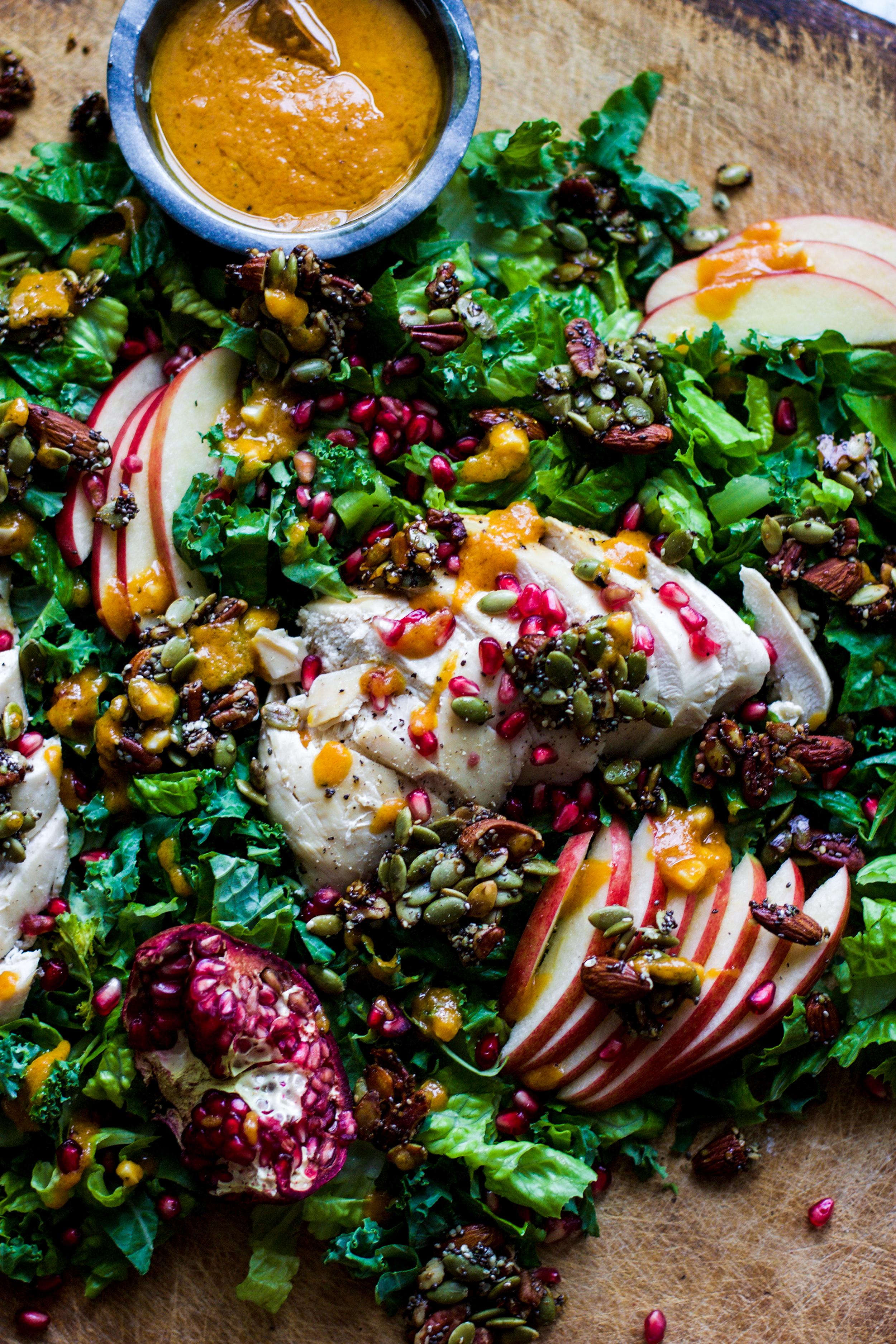Fall Chicken Salad with Pumpkin Vinaigrette