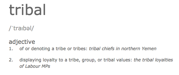 Definition of tribal from dictionary.com