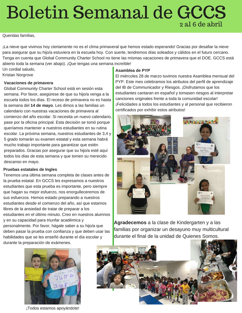 April 2 Weekely Newsletter Spanish .jpg