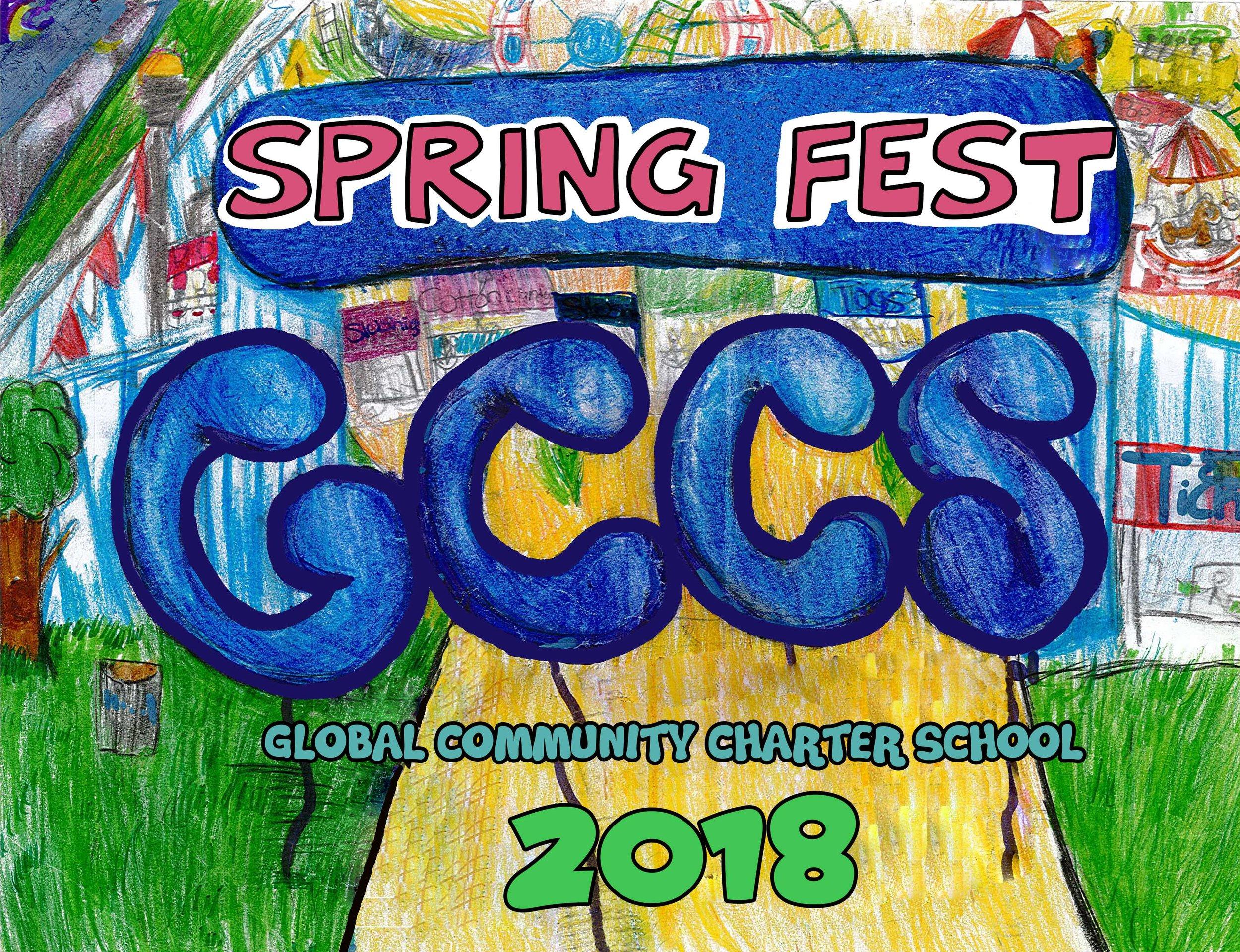 Big shoutout to Janelly H.from class 5C for creating the Spring Fest 2018 t-shirt art piece.  Gran agradecimiento a Janelly H. de la clase 5C por crear la pieza de arte de la camiseta Spring Fest 2018.