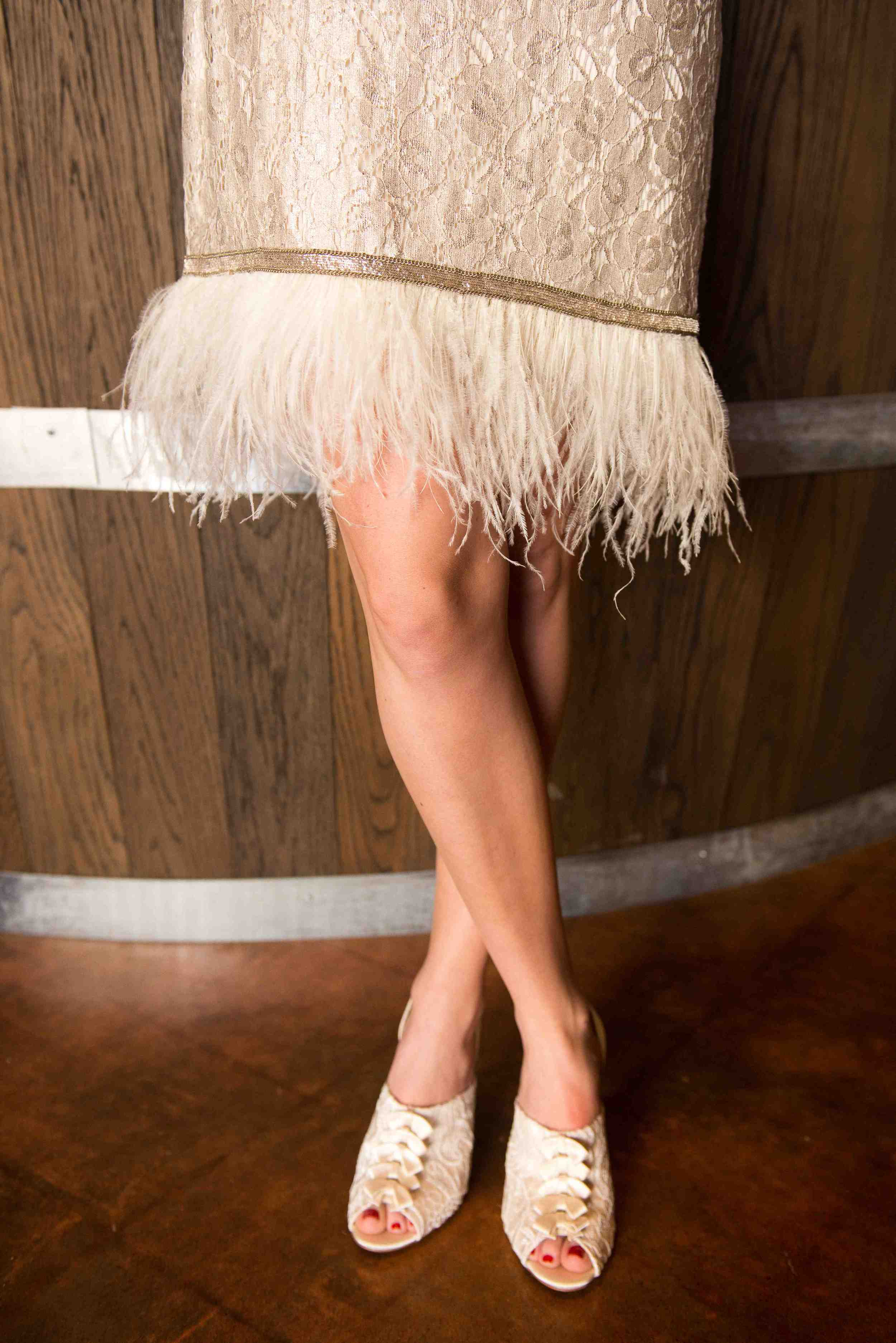 {Beautiful Flapper style dress and shoes by Swoon}