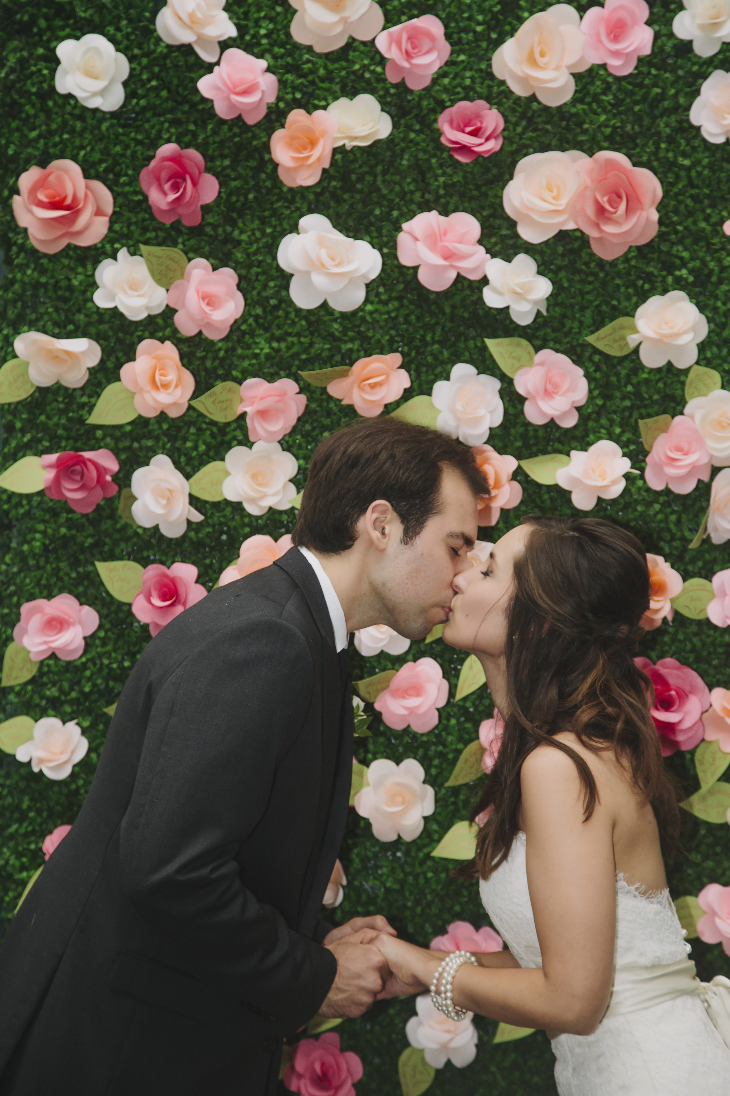 Paper Flowers Dixon Wedding