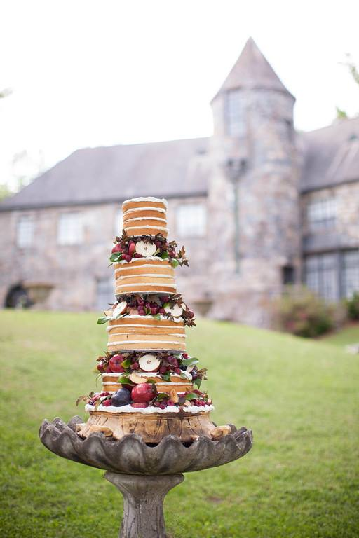 Another stunning naked cake!  I can't get enough of these!