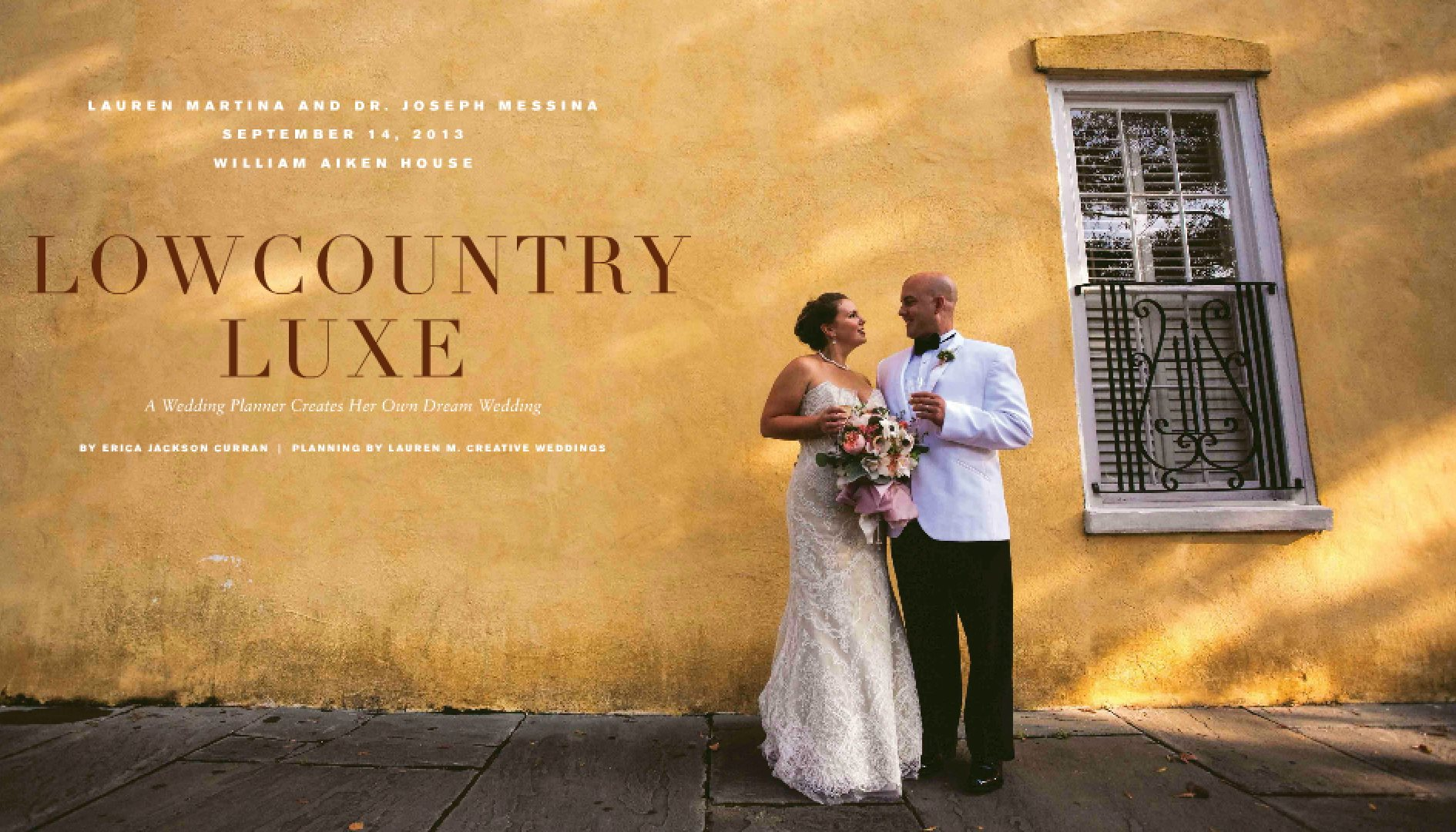 Our Wedding was published in Charleston Style and Design Magazine!