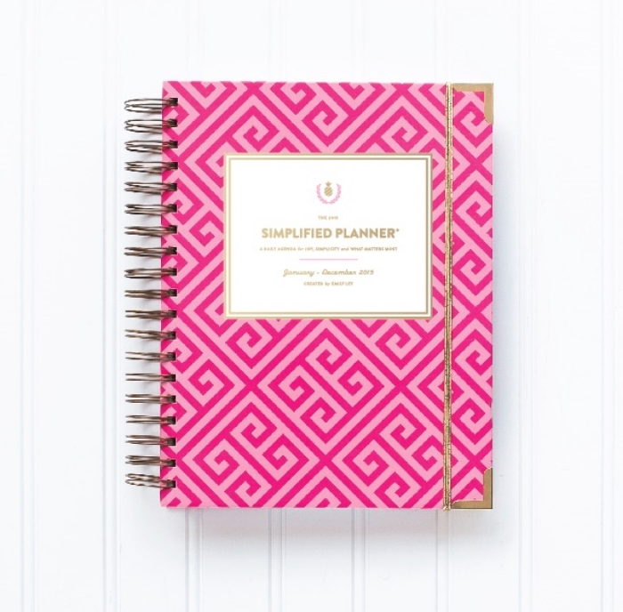 Emily Ley is another one that I really enjoy on Instagram. I love her  Simplified Planner and look forward to it each year! This year, one of her designs is pink and gold! Definitely on my list!!!