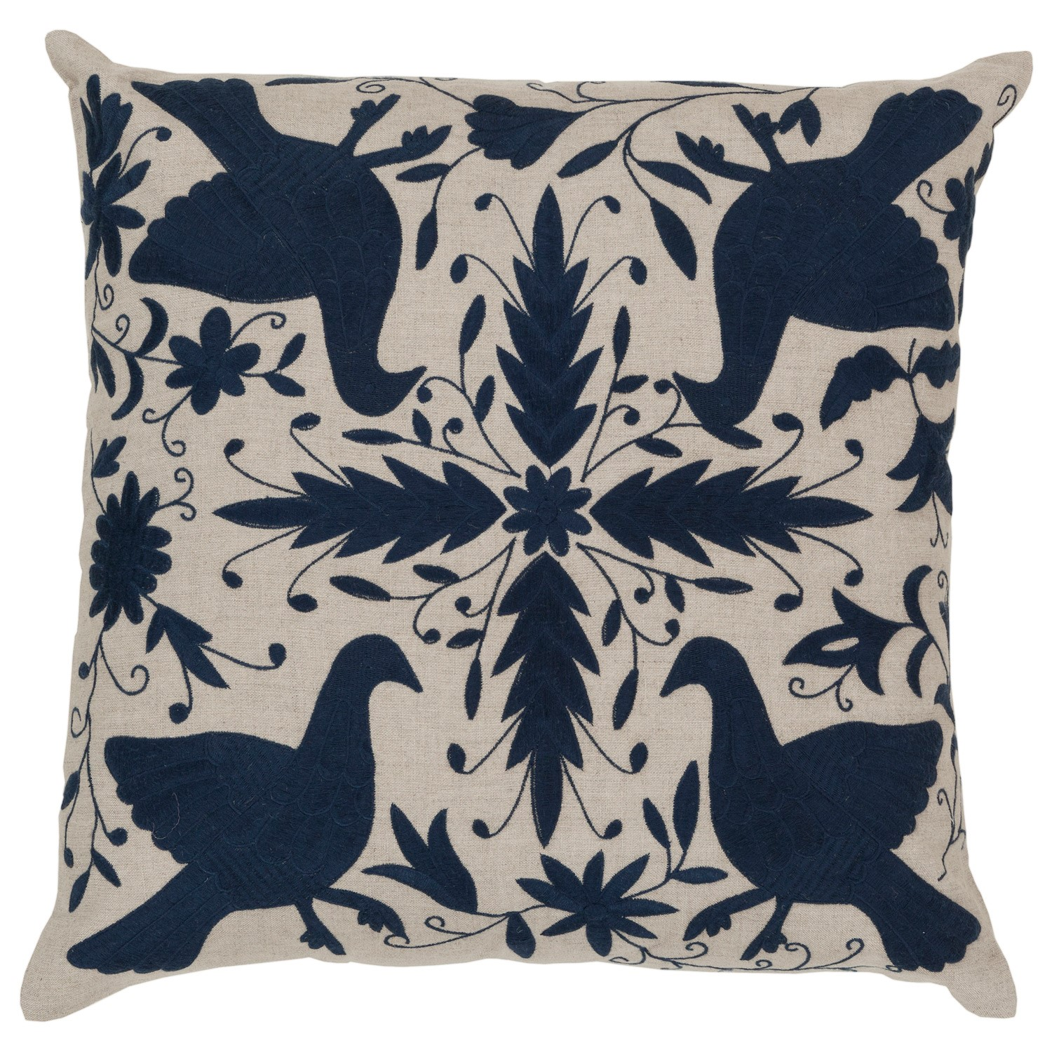 Fly Away Pillow in Navy  by  Surya