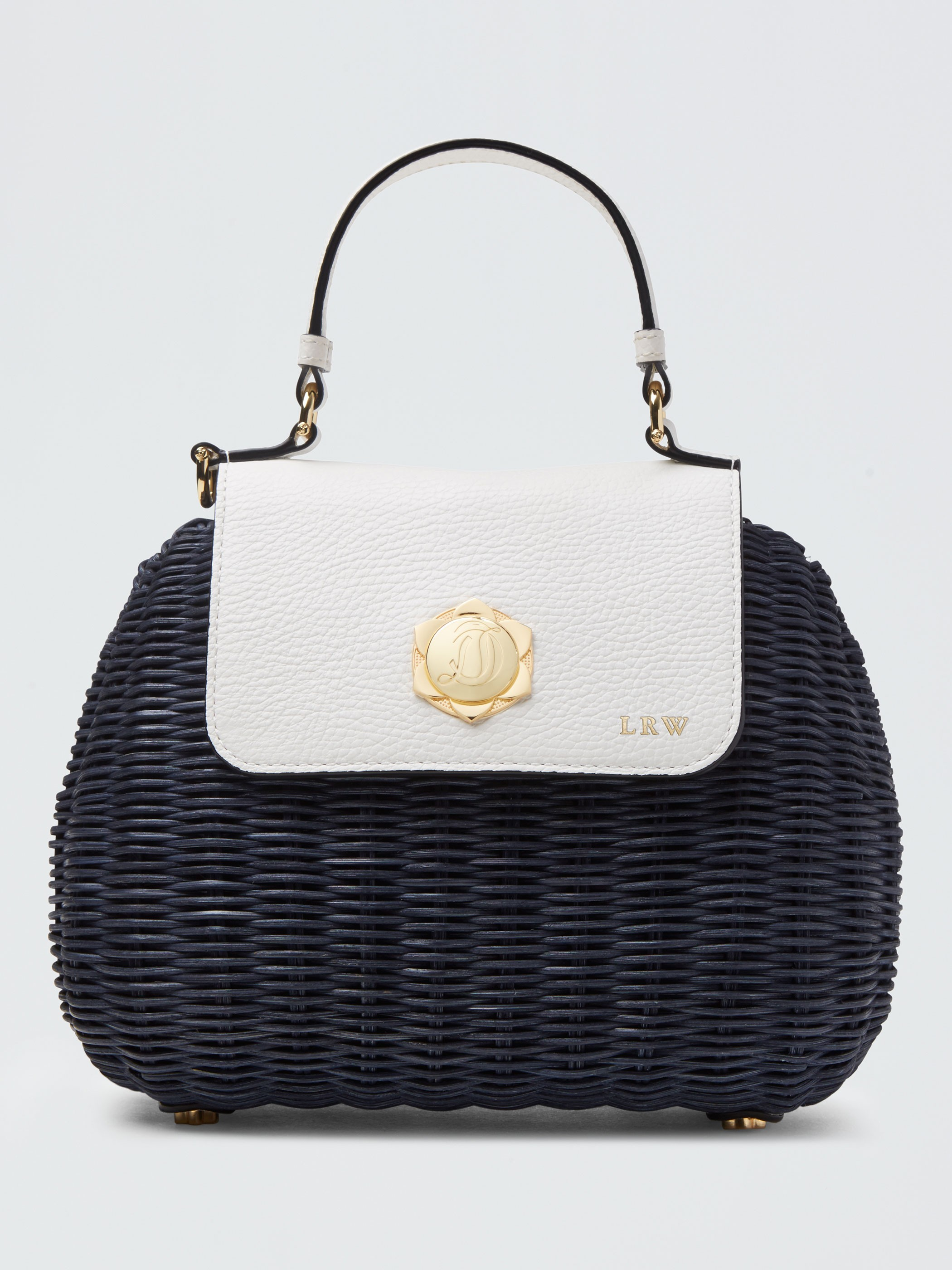 The Overlook Bag in Nashville Navy  - Crafted with beautiful gold magnolia hardware and customizable with a metallic monogram. I ADORE this!