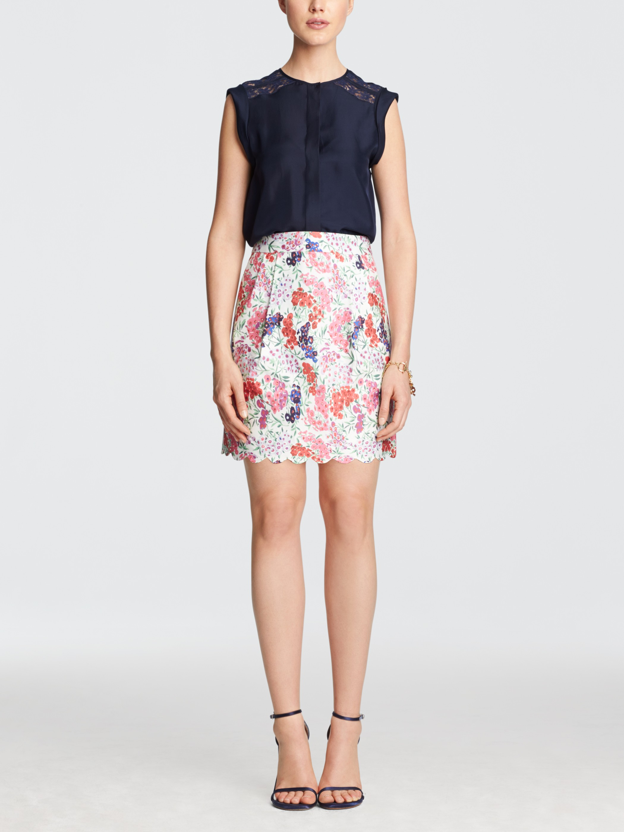 Printed Gilmore Skirt  - I love this skirt and there is one in solid navy as well! The feminine scalloped hem and side-seam pleated pockets set this little skirt to the top of my wish list!