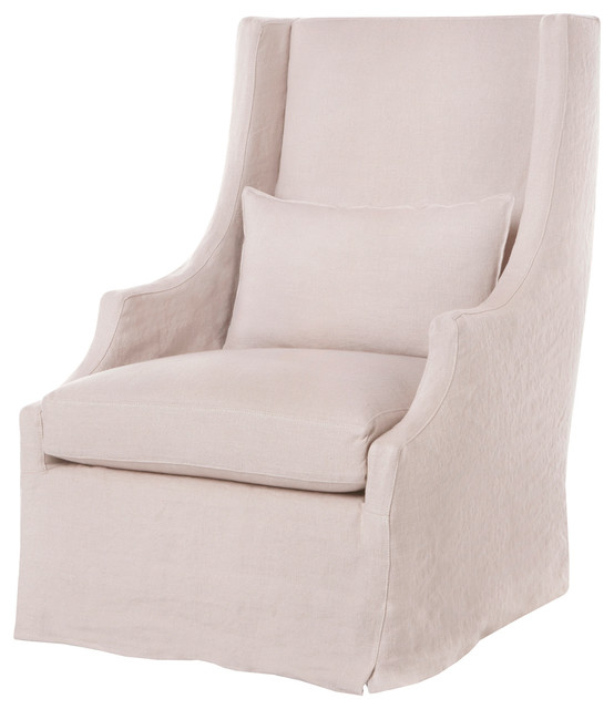 Amalia Pale Pink Slip Cover  Arm Chair