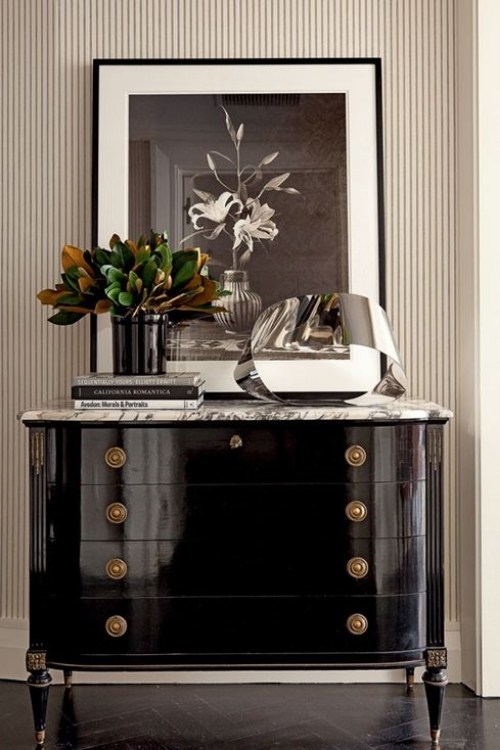 From Decorating with Black by Kate Riley, Centsational Girl website
