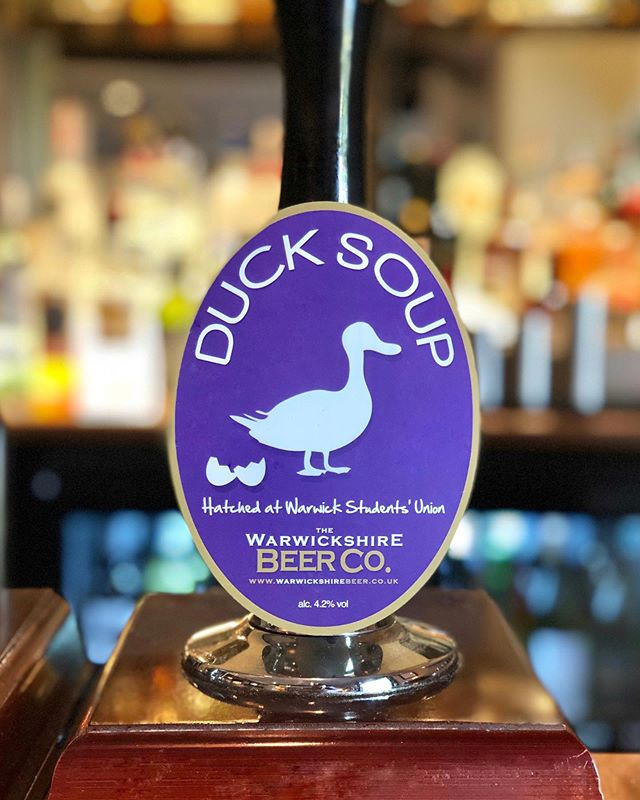 Did you know Duck Soup was initially brewed exclusively for the Students Union at 'The University of Warwick'🎓. . What an awesome coincidence that we now have this tasty brew back on our bar, what's more it's Graduation week!!. . Good luck!! 🍻 . . @warksbeerco  #goodluck #celebration #graduation #ducksoup #realale #beer #warwickshirebeerco #supportlocal #villagepub #offchurch #gastropubs #drinkbeer #oldfriend #summerfun #summermenu