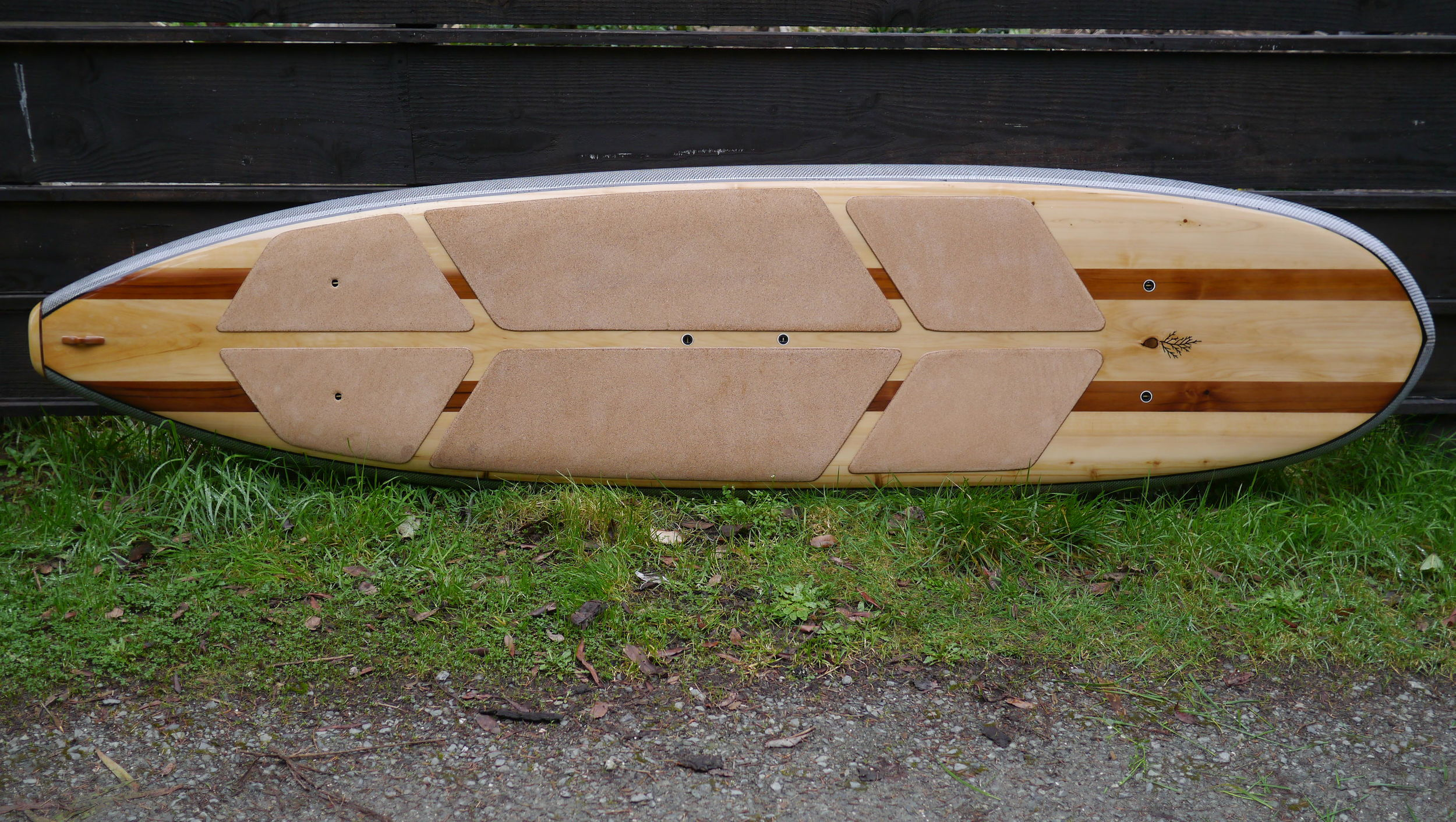 "Longboard sup in Port Orford Cedar and Red Cedar, 10 x 29 1/2"" x 4 3/8 – custom"