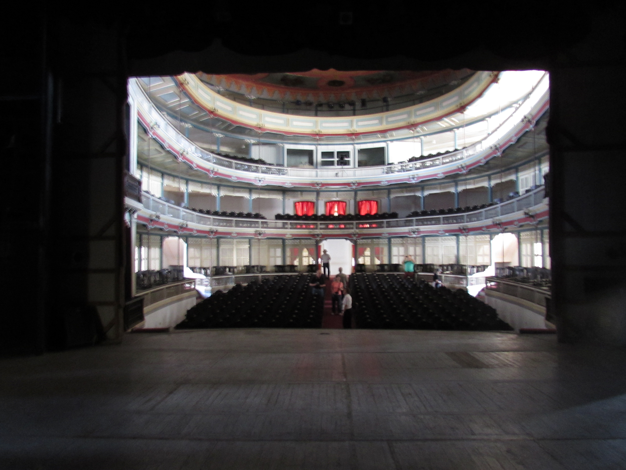 Looking from the back of the Teatro La Caridad