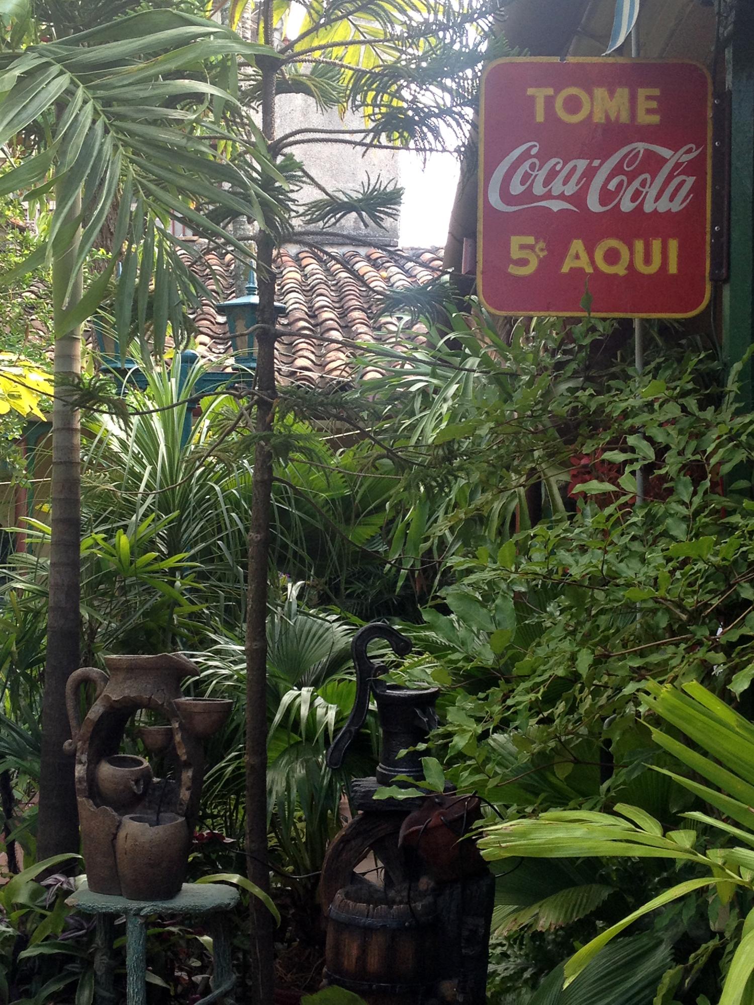 Old Coca-Cola sign at a paladar in Santa Clara