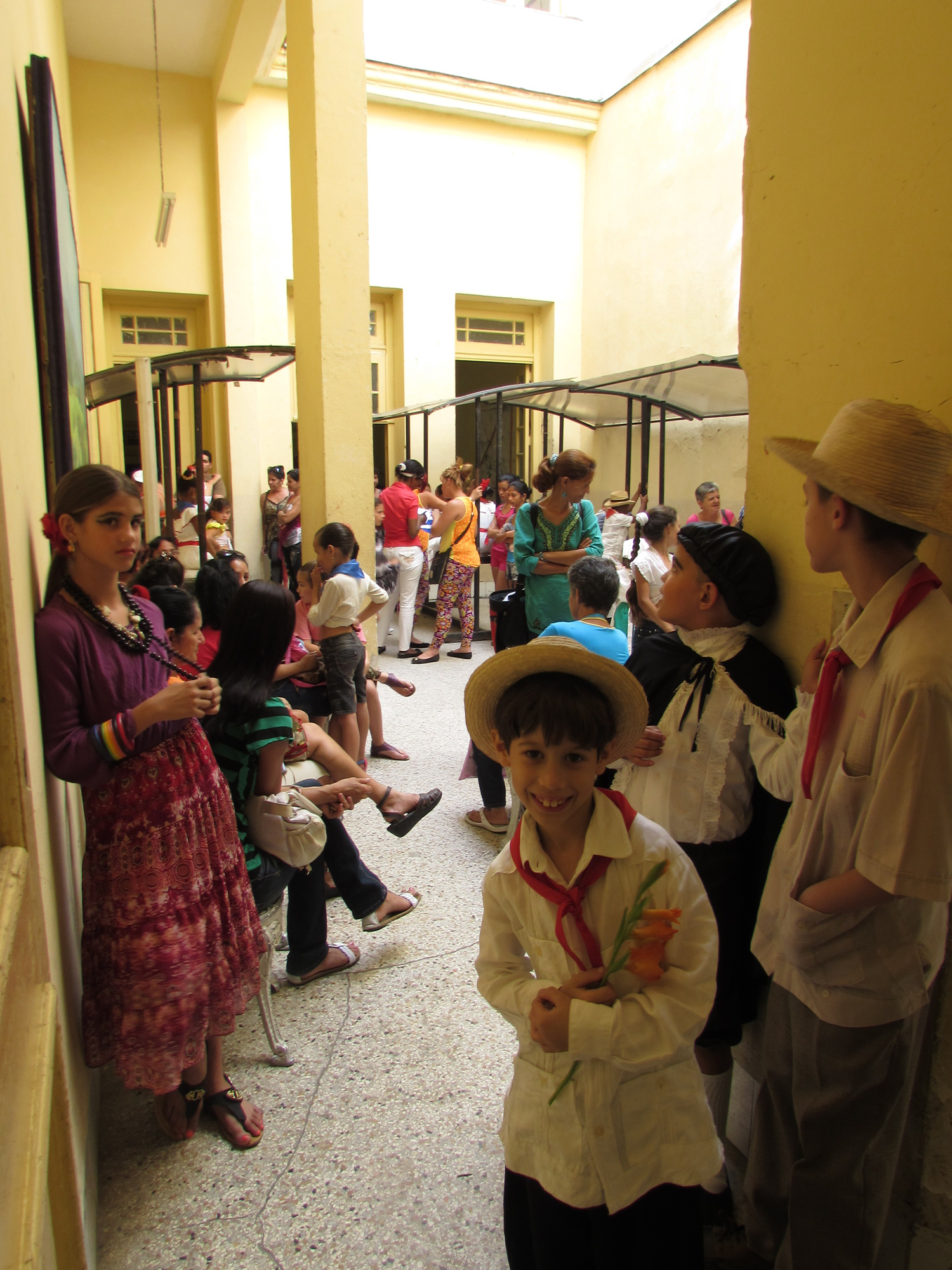 Children waiting to perform at a Santa Clara community center