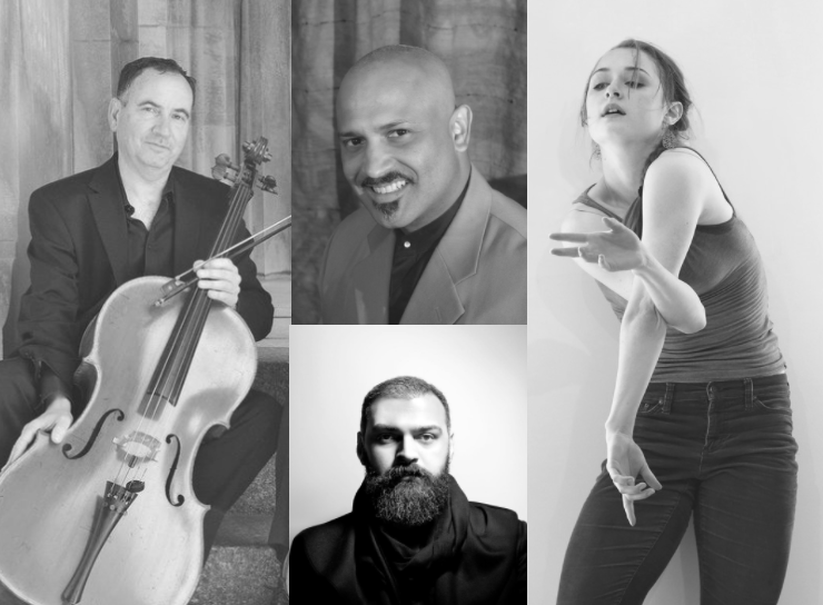 Clockwise from left: Udi Bar-David, Rolando Morales-Matos, Chloe Perkes, and Mehdi Saeedi