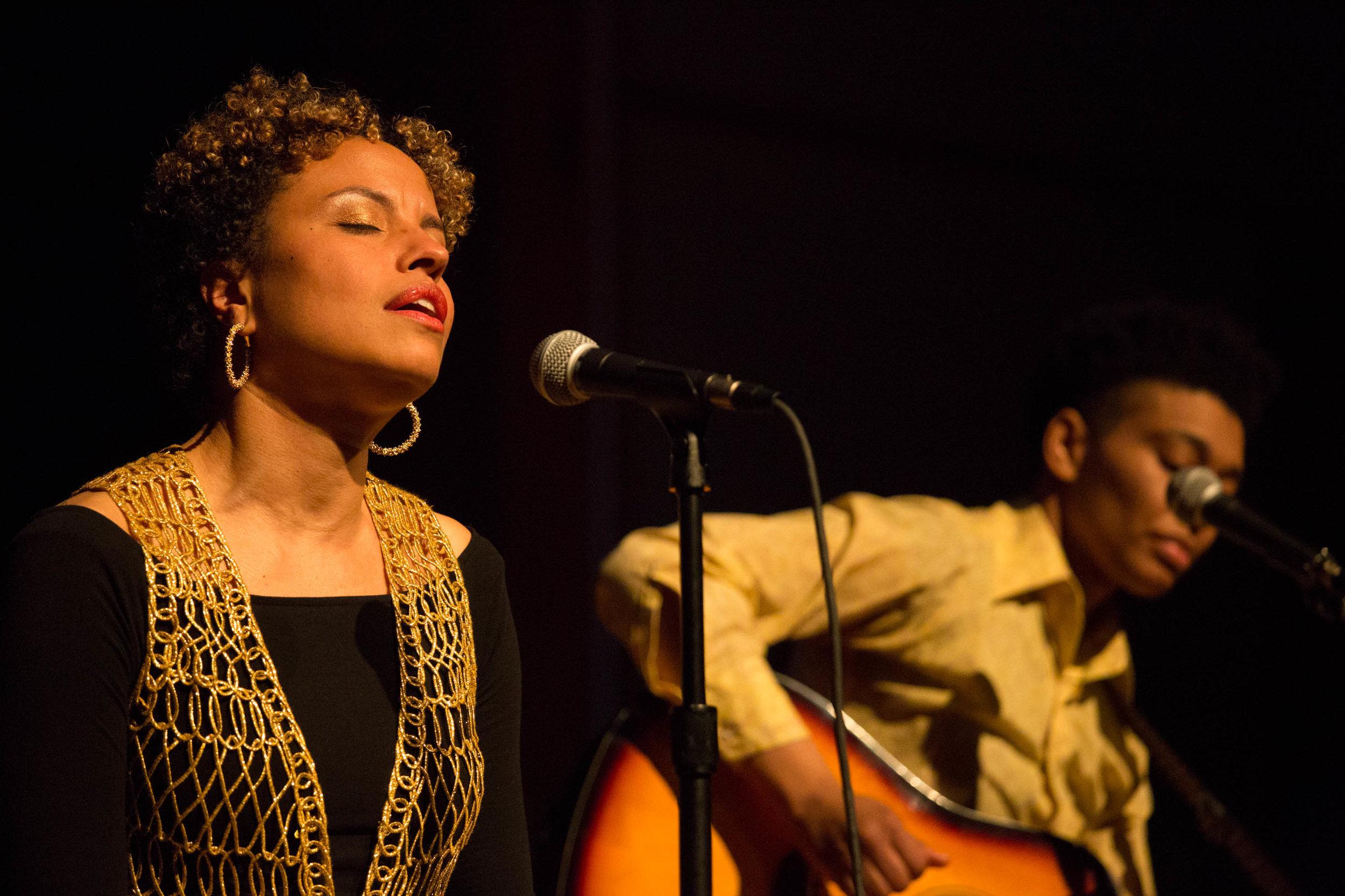 Keisha Hutchins in performance, March 2017. Photo: Natasha Cohen-Carroll.