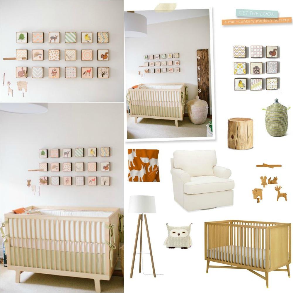 Style Me Pretty- Mid Century Nursery