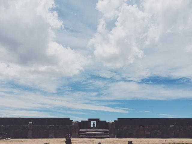 the main gateway at tiwanaku
