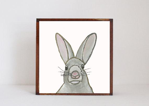Gray Bunny Face