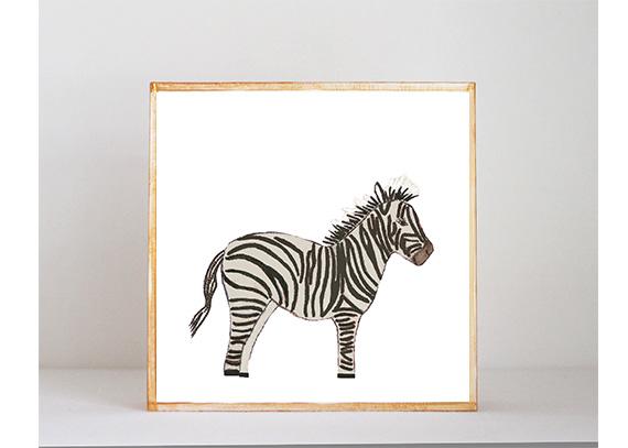 Zebra Side View