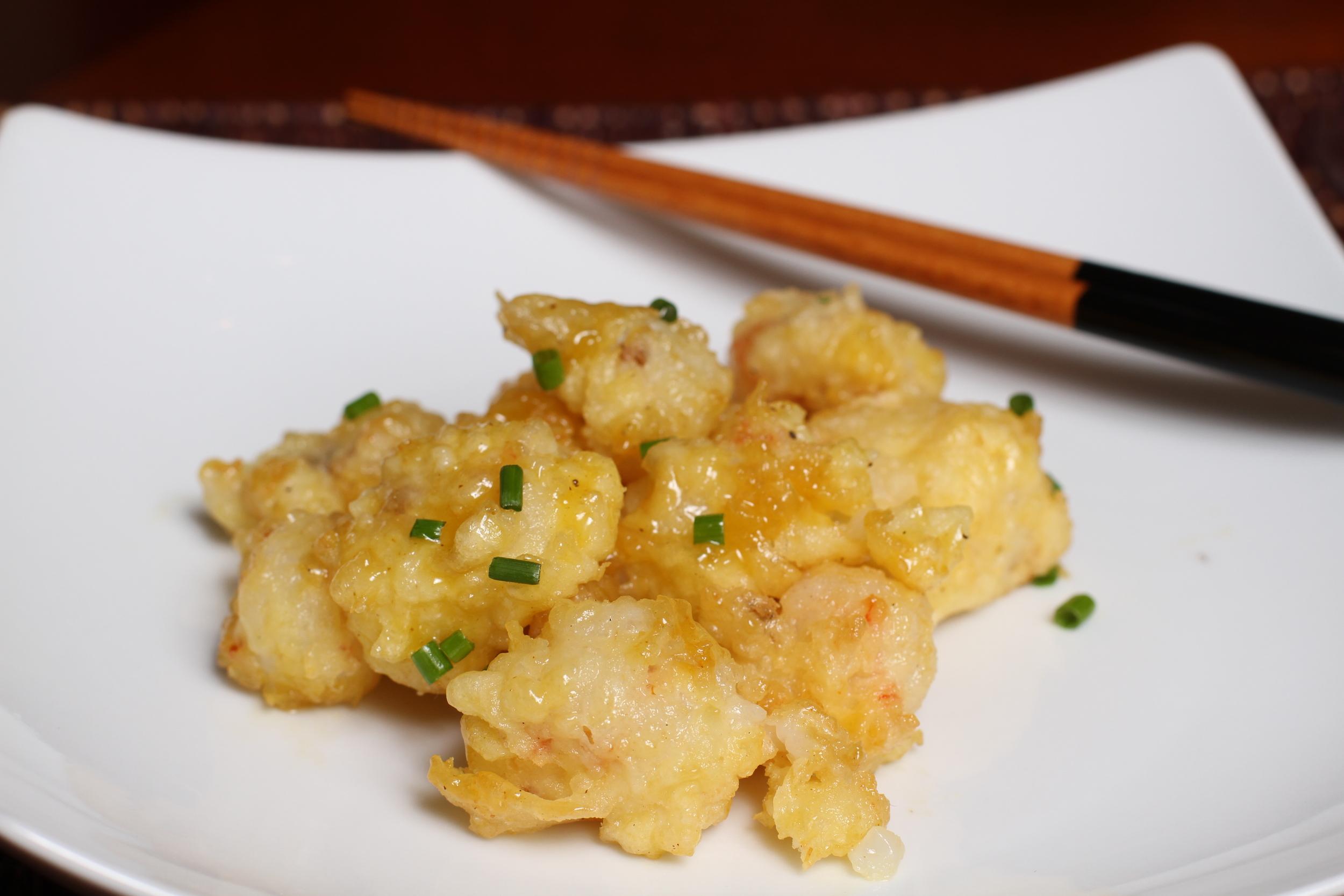 sweet shrimp tempura
