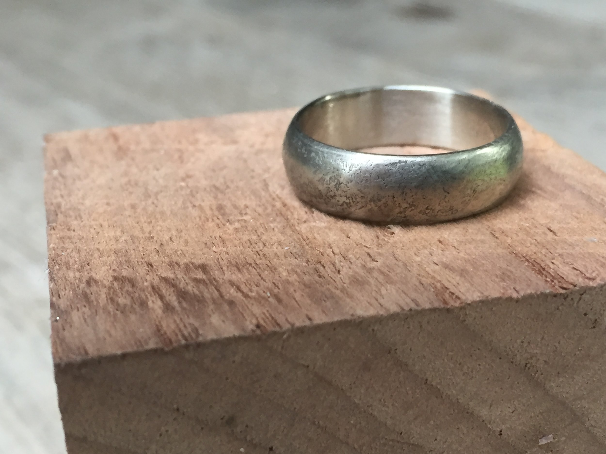 Matte White Gold with Rustic Black Finish