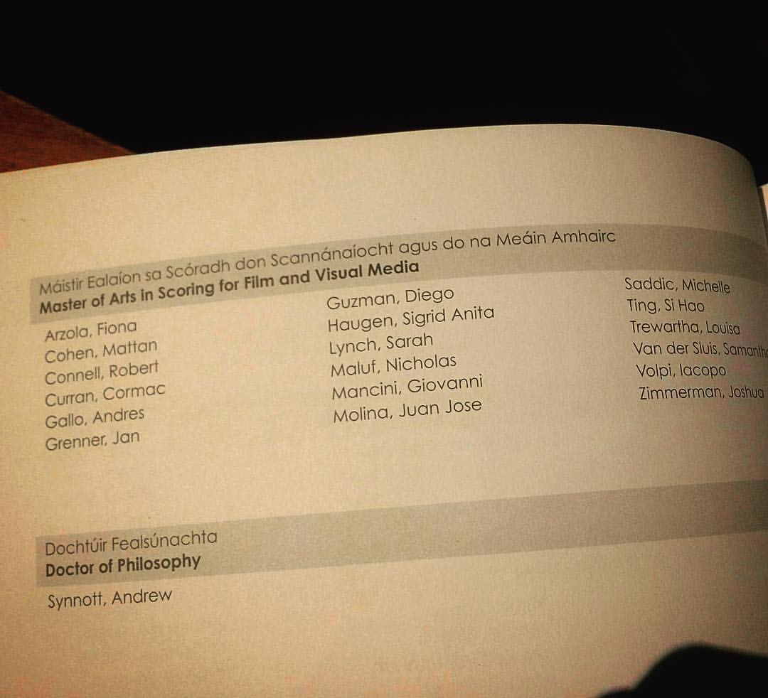 The graduation program, courtesy of a friend. I love these talented people!!!