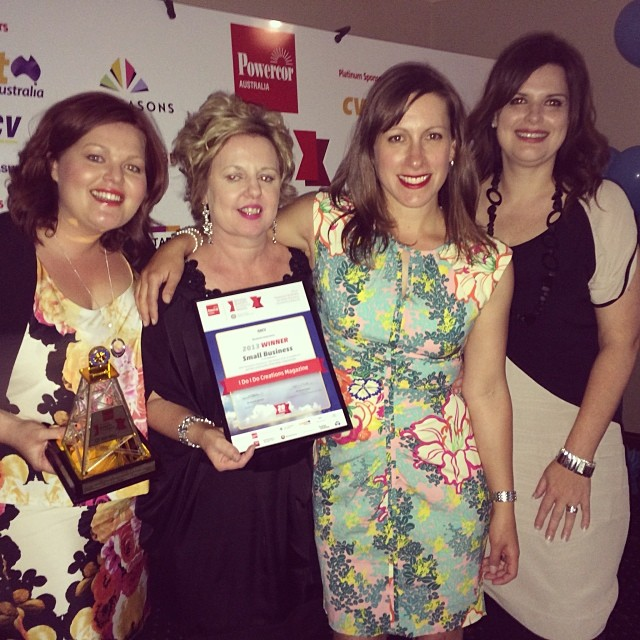 From left to right - The creative crew at I do I do! Renee Hirst, Jennifer Bull, Michaela Mills and Kathie Bolitho at the Bendigo Business Awards